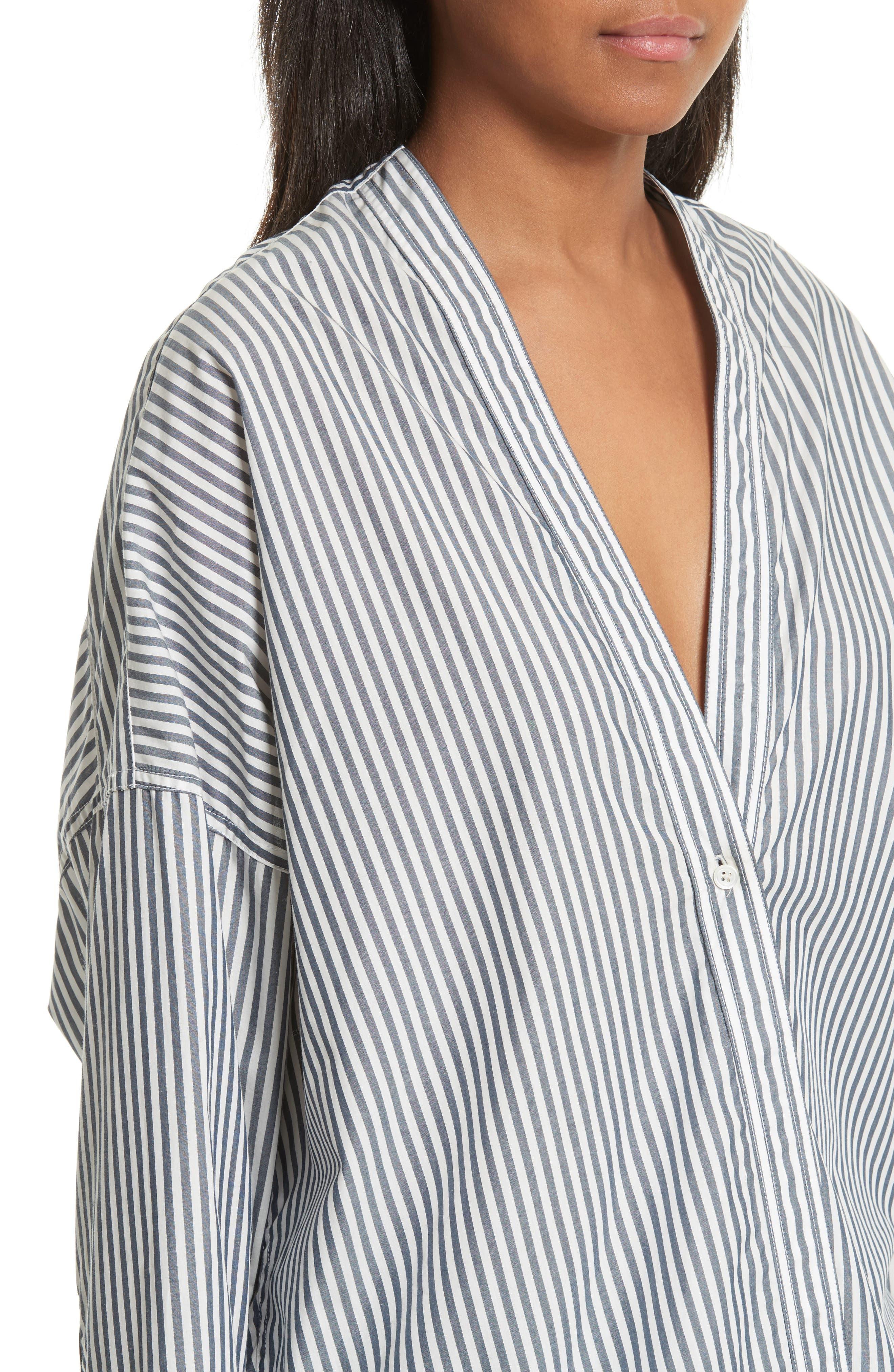 Sabine Stripe Cotton Top,                             Alternate thumbnail 4, color,                             412