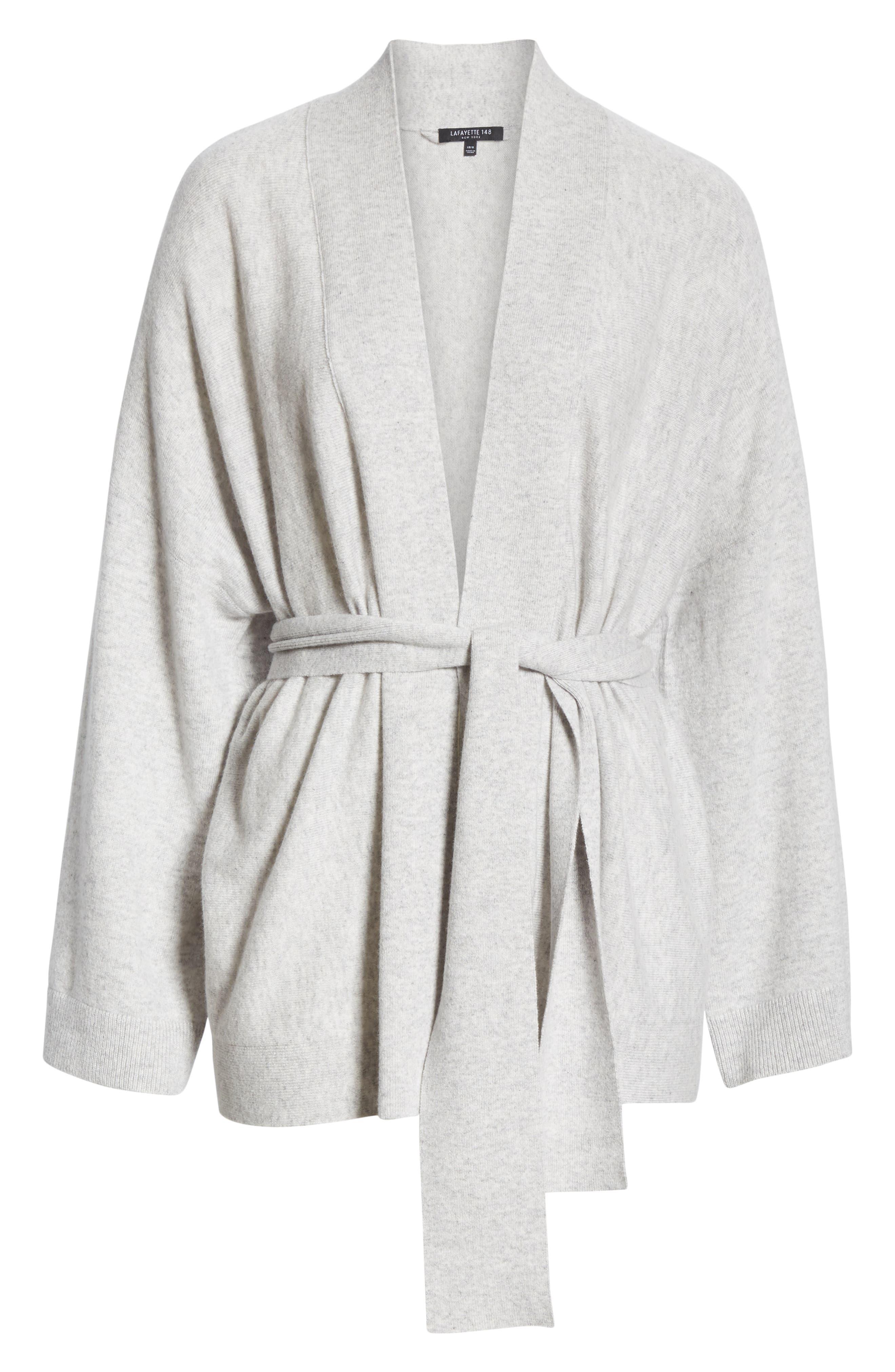 Cashmere Kimono Cardigan,                             Alternate thumbnail 7, color,                             GREY HEATHER