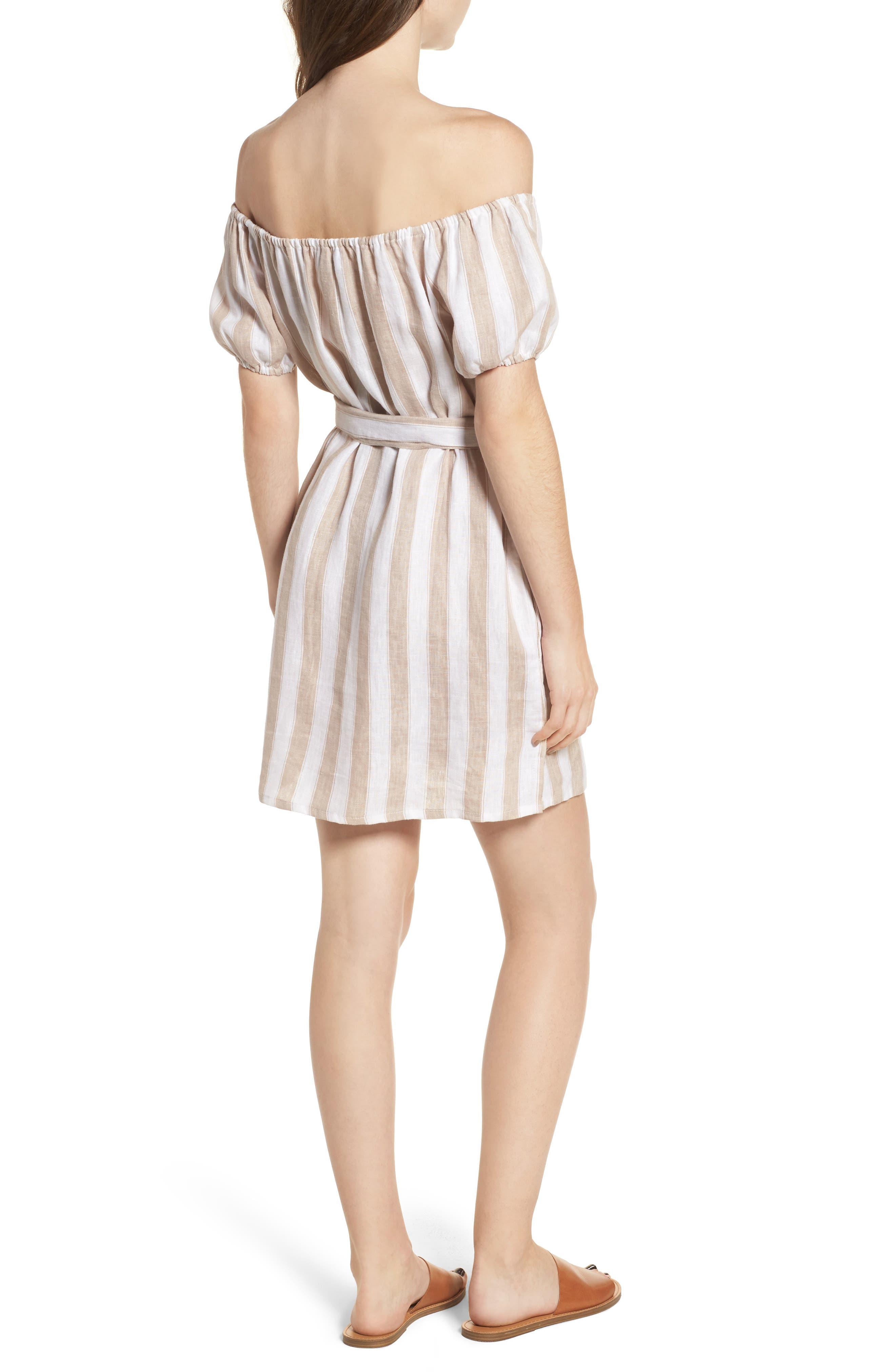 Savoy Off the Shoulder Dress,                             Alternate thumbnail 2, color,                             100