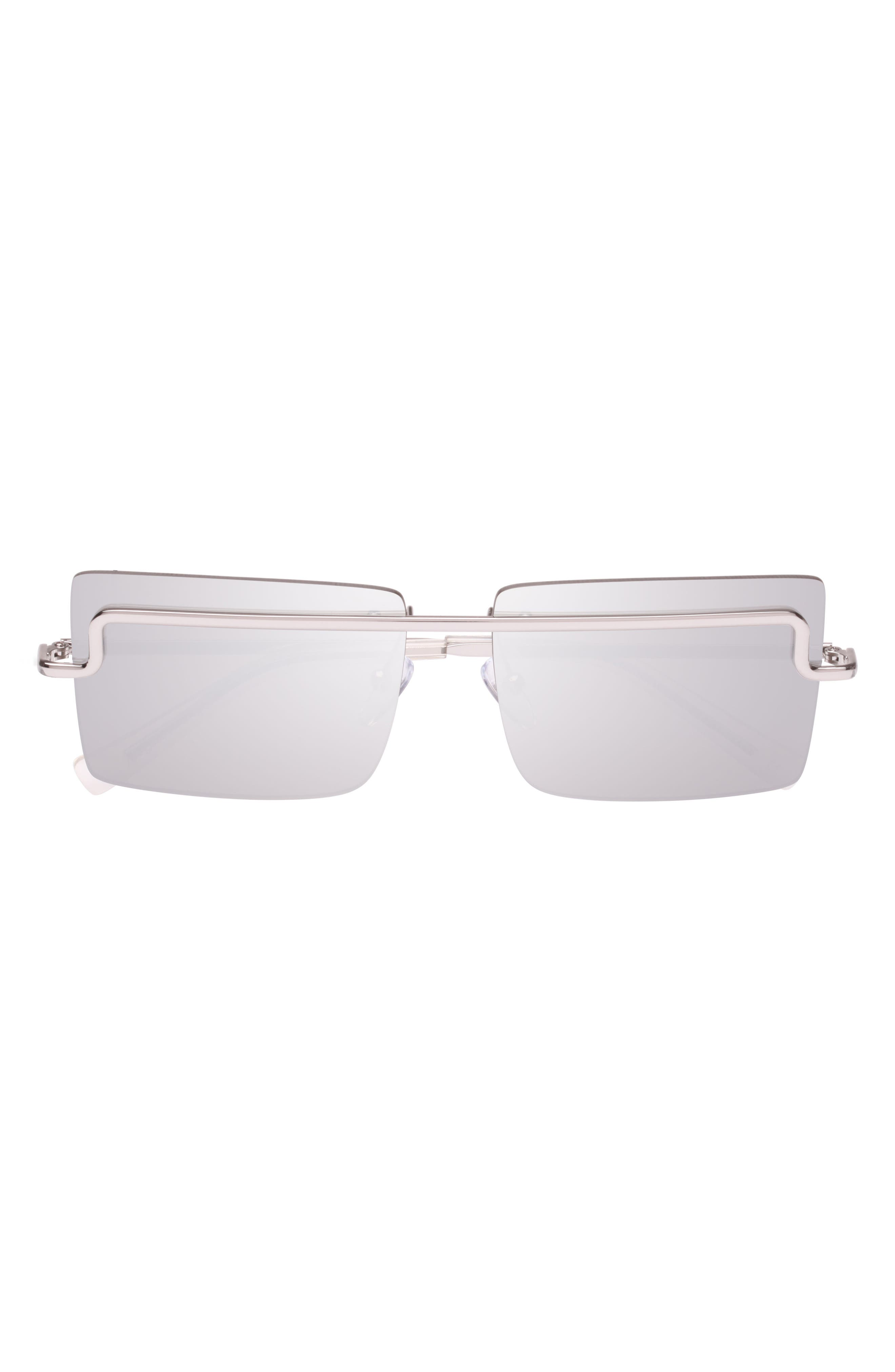 The International 58mm Sunglasses,                             Alternate thumbnail 3, color,                             SILVER/ SILVER MONO