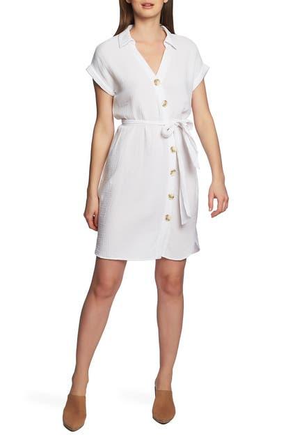 1.state Dresses ASYMMETRICAL BUTTON DOWN SHIRTDRESS