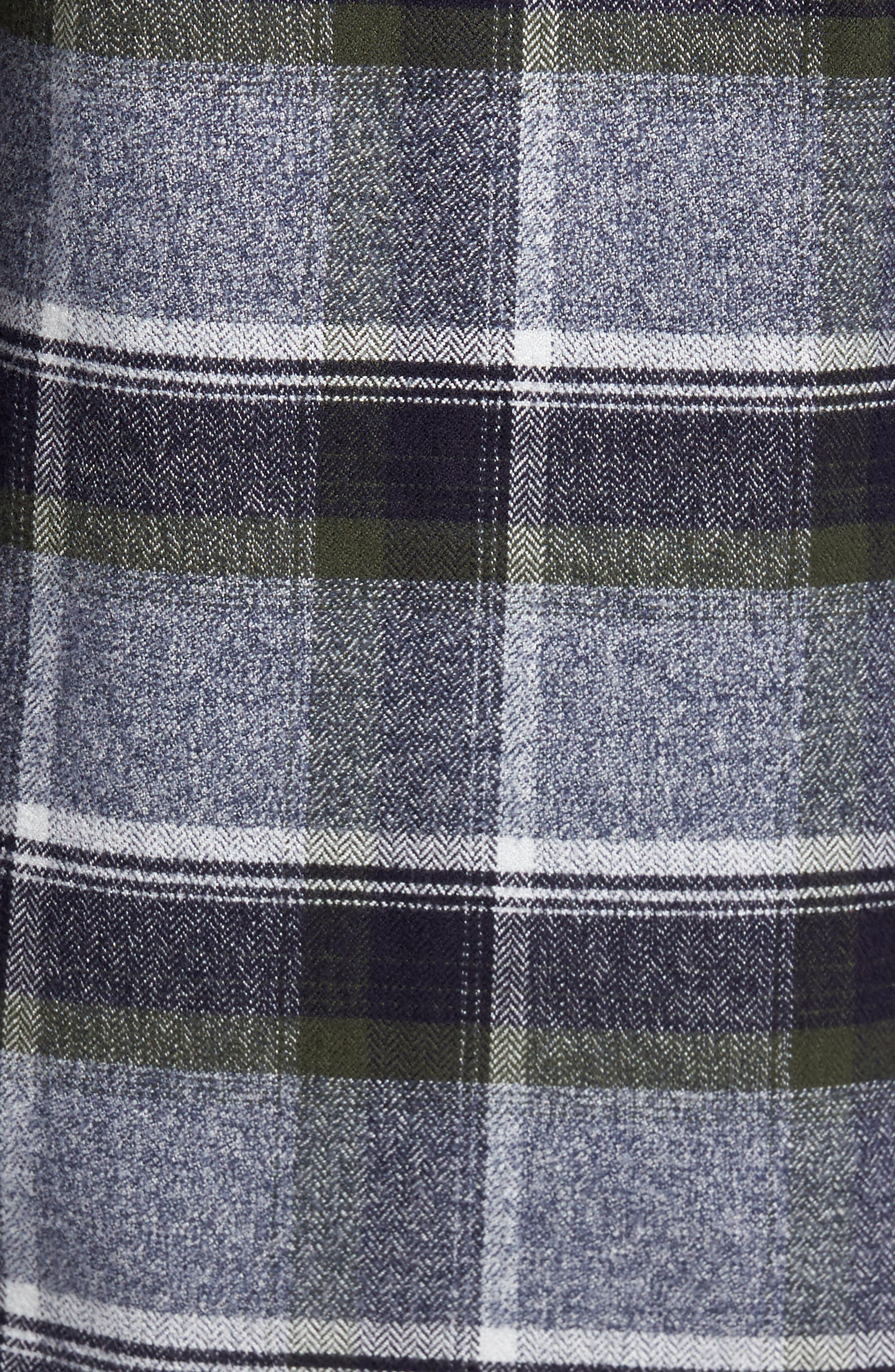 Regular Fit Plaid Flannel Shirt,                             Alternate thumbnail 5, color,