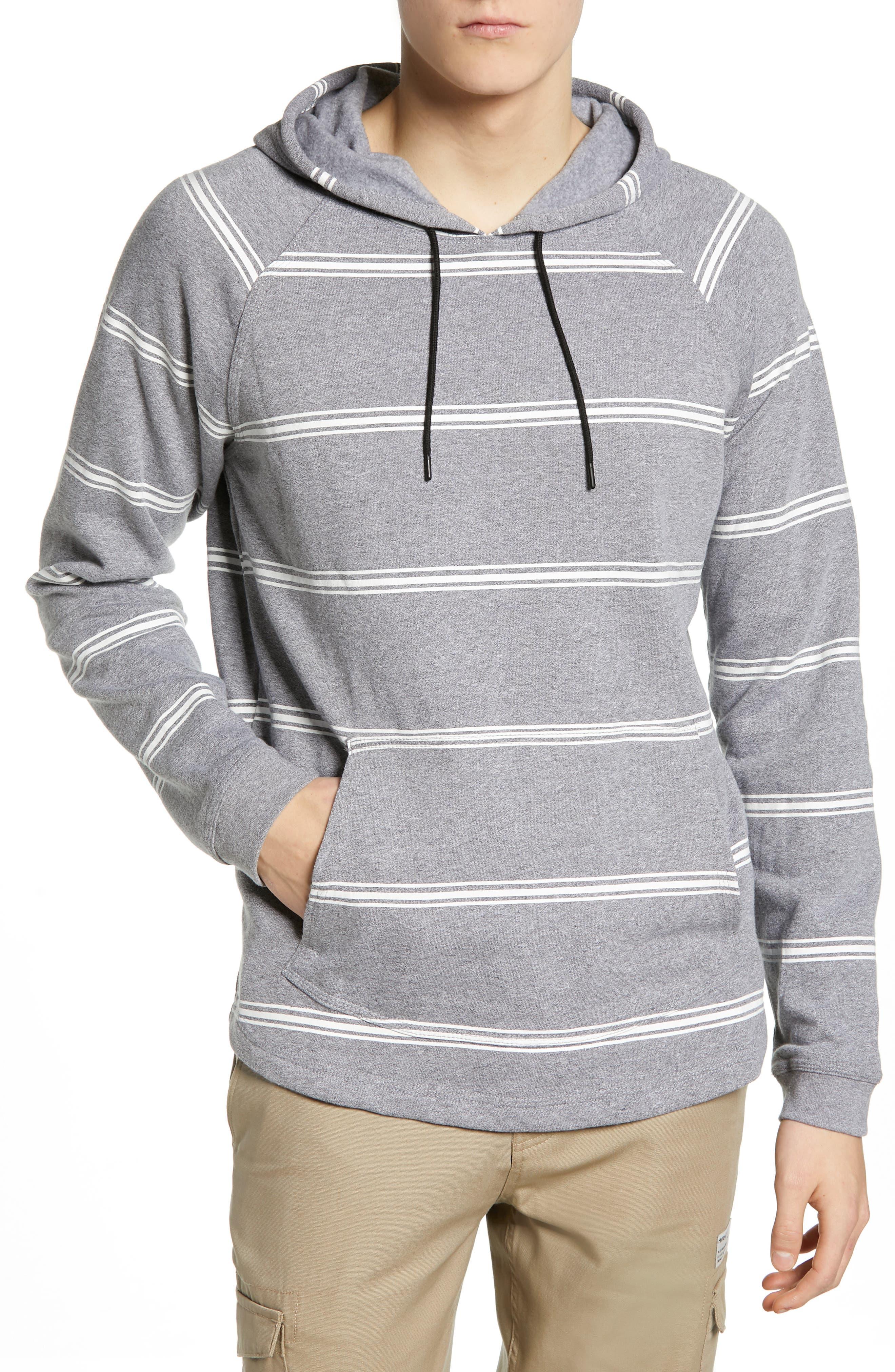 Hurley Crone Milled Pullover Hoodie, Grey