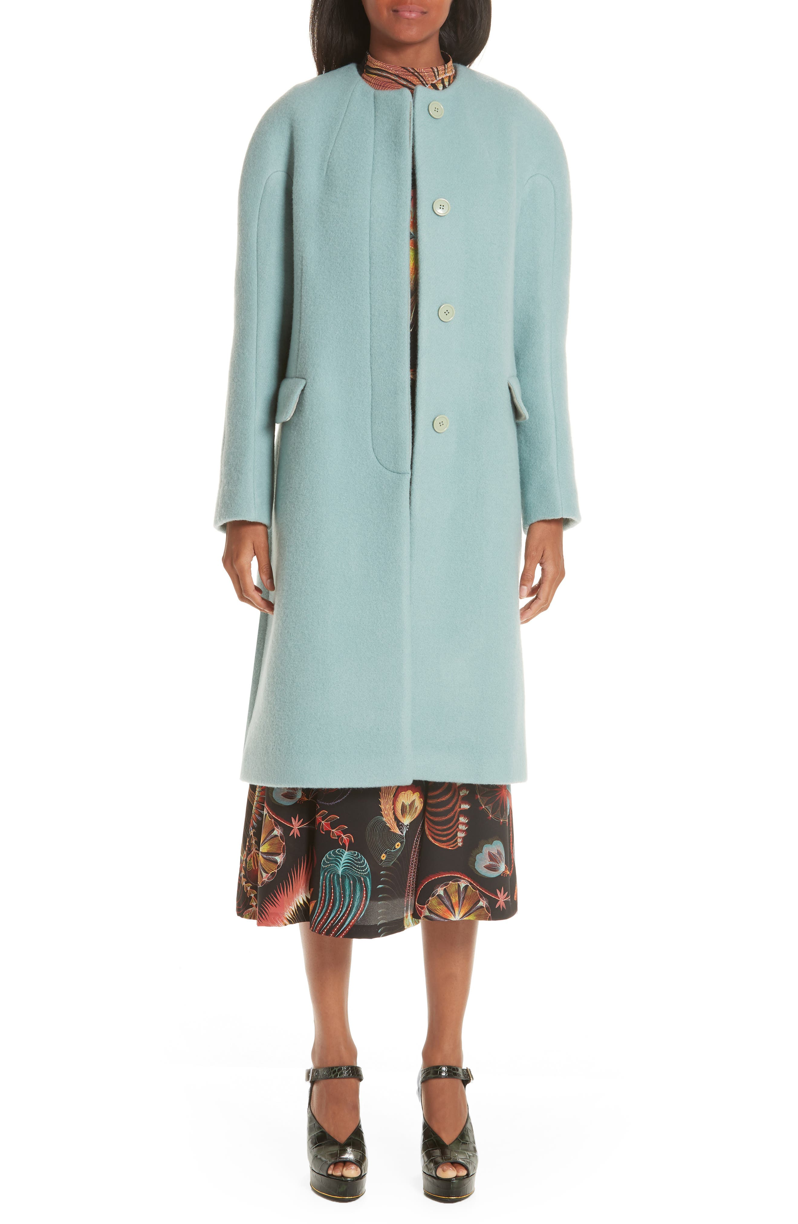 Wool & Mohair Coat, Main, color, LIGHT BLUE