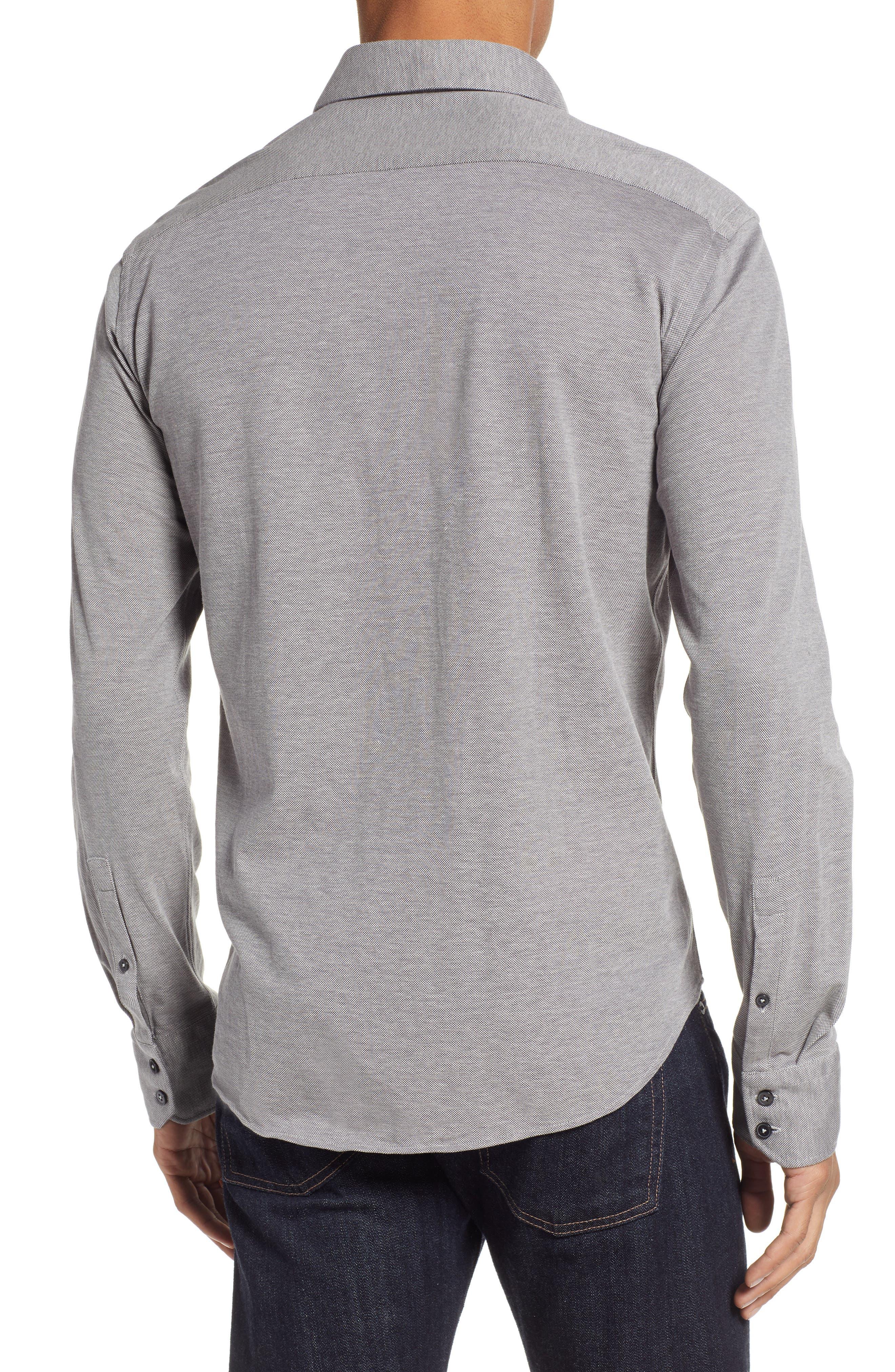 Raphael Regular Fit Sport Shirt,                             Alternate thumbnail 3, color,                             CHARCOAL