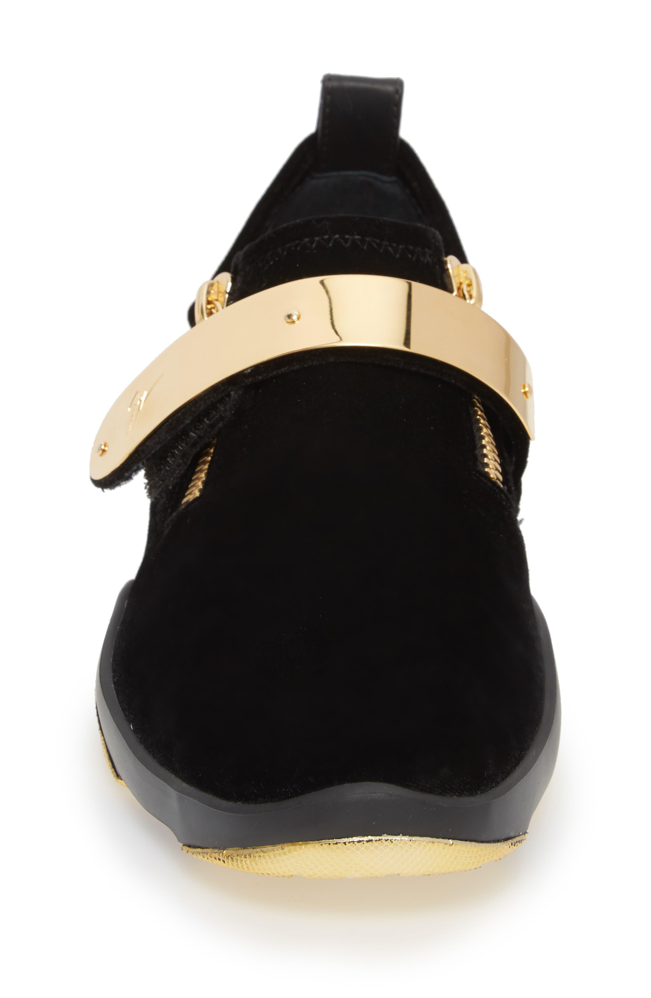 Gold Bar Sneaker,                             Alternate thumbnail 4, color,                             003