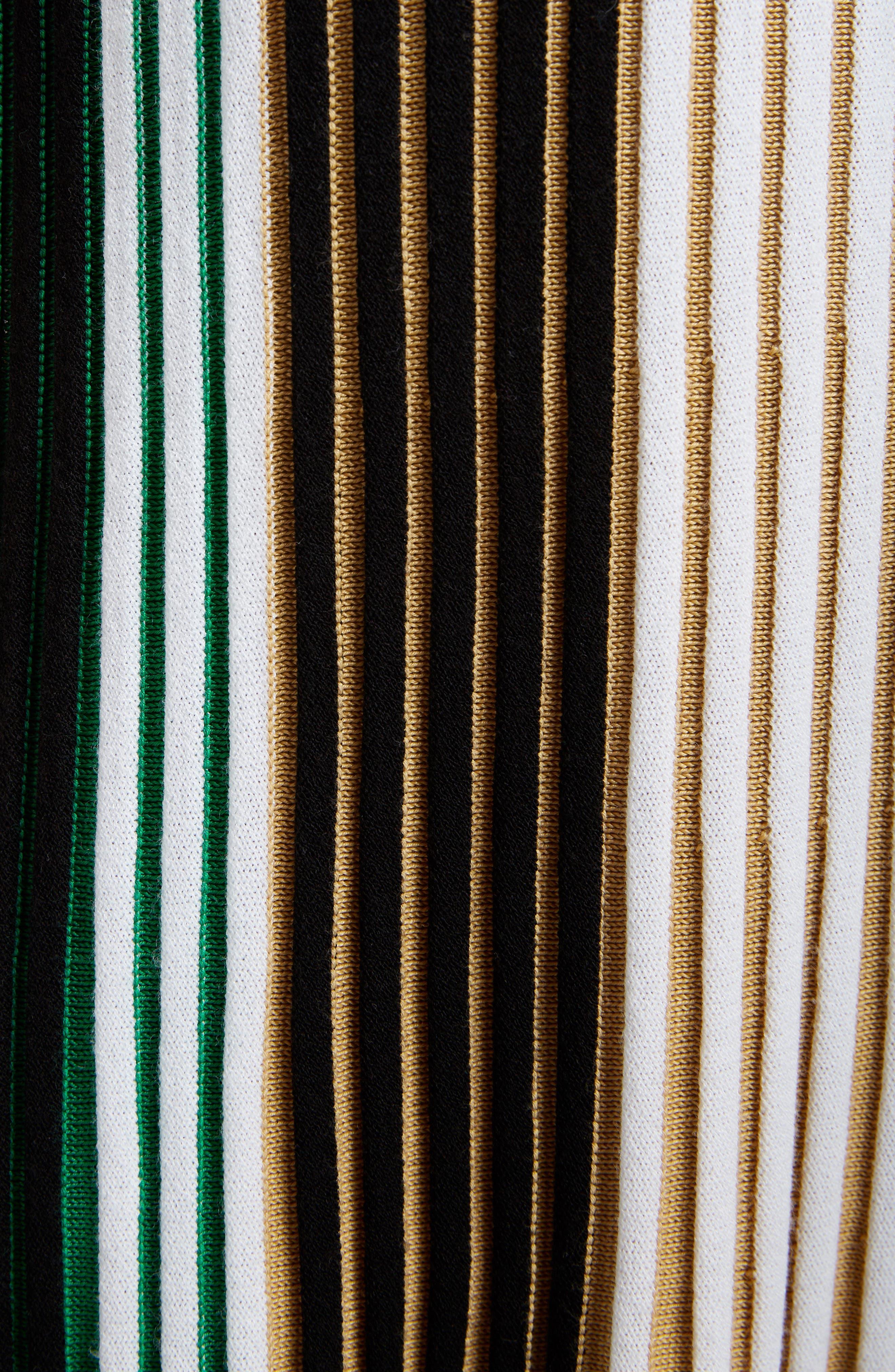 Pleated Rib Knit Dress,                             Alternate thumbnail 6, color,                             MULTICOLOR
