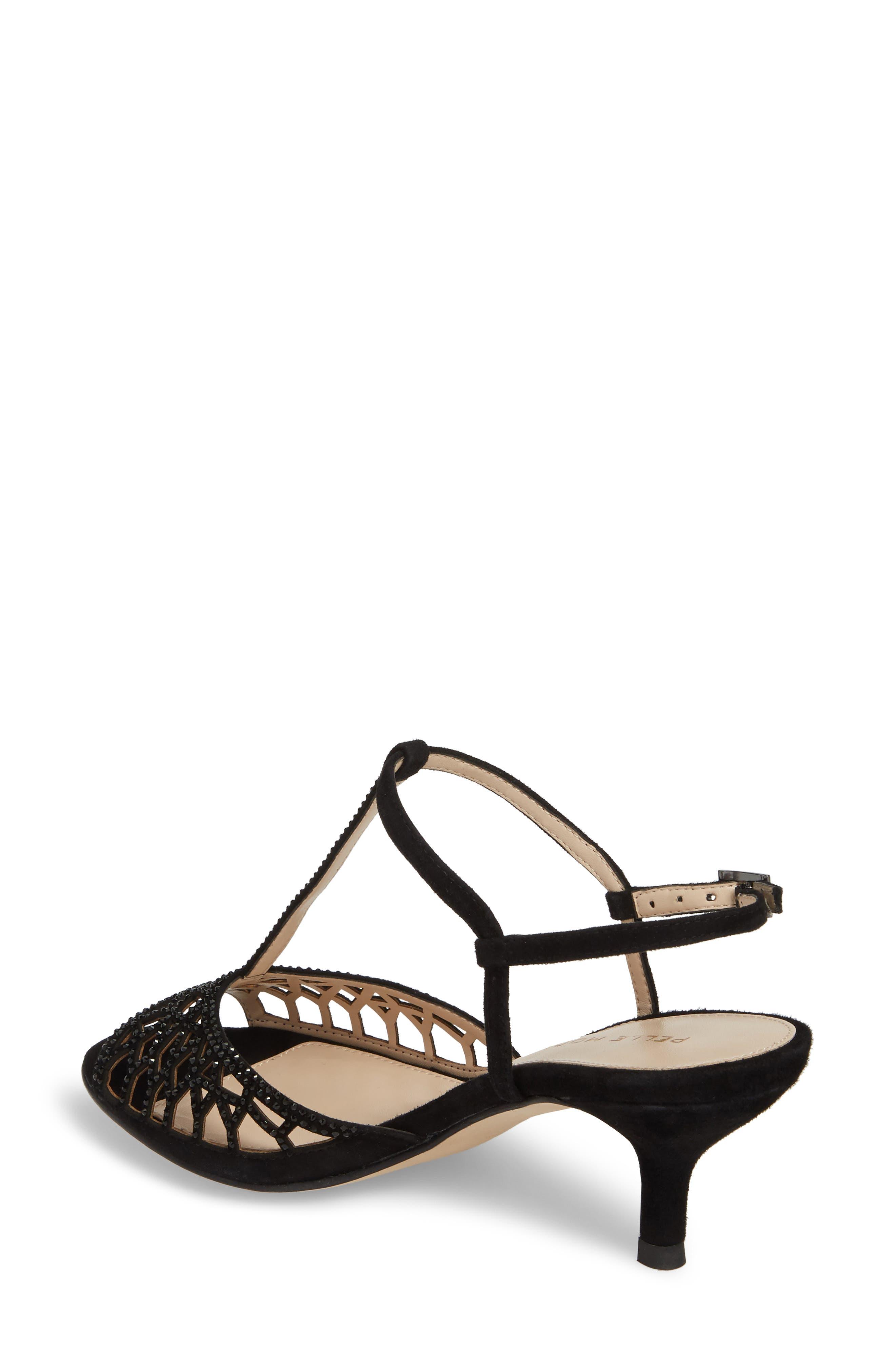 Adaline Embellished Sandal,                             Alternate thumbnail 2, color,                             BLACK SUEDE