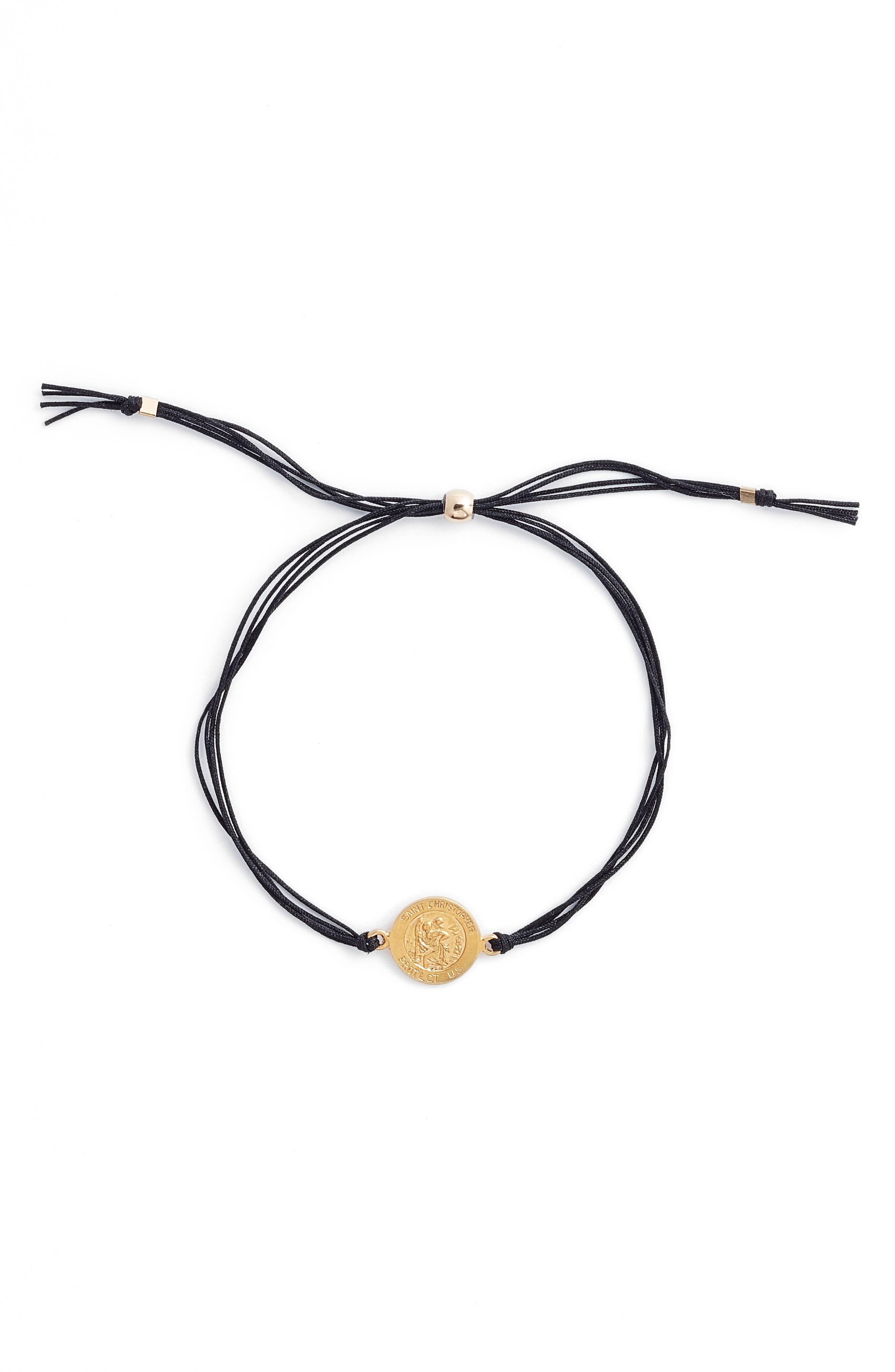 Saint Christopher Pull Bracelet,                             Alternate thumbnail 2, color,                             001