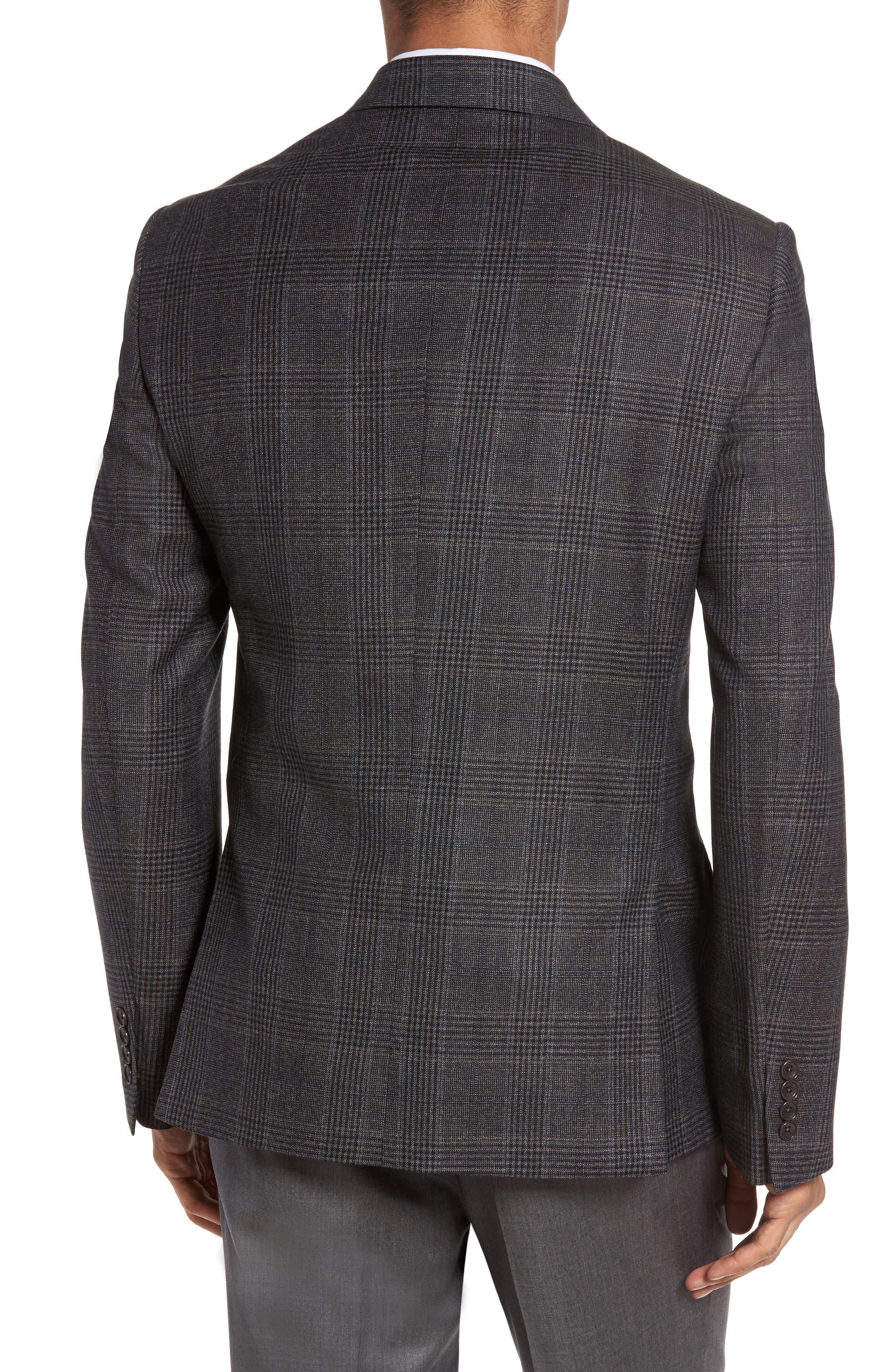 Classic Fit Plaid Wool Sport Coat,                             Alternate thumbnail 2, color,                             099
