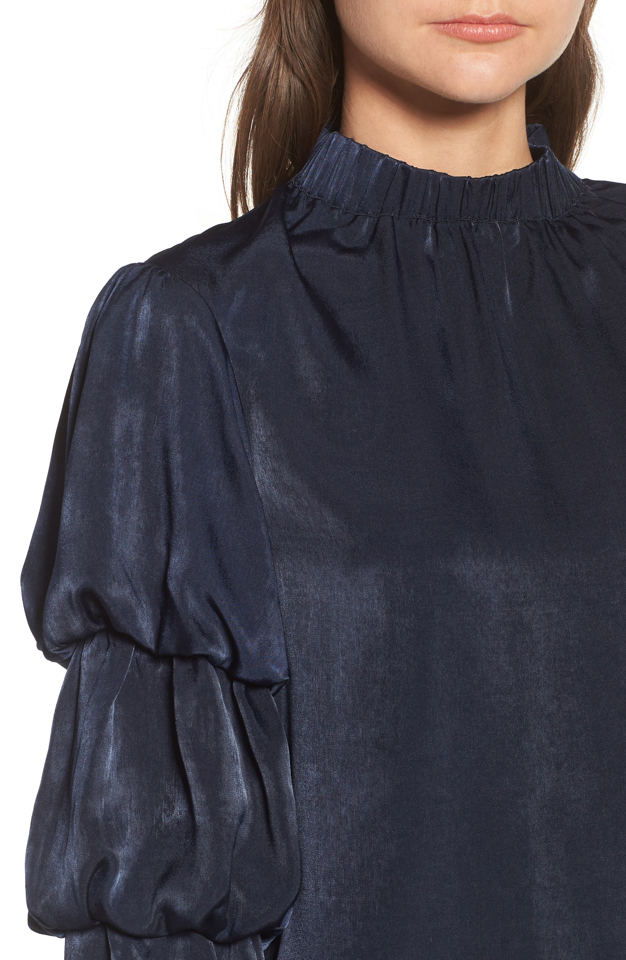Tiered Sleeve Shift Dress,                             Alternate thumbnail 4, color,