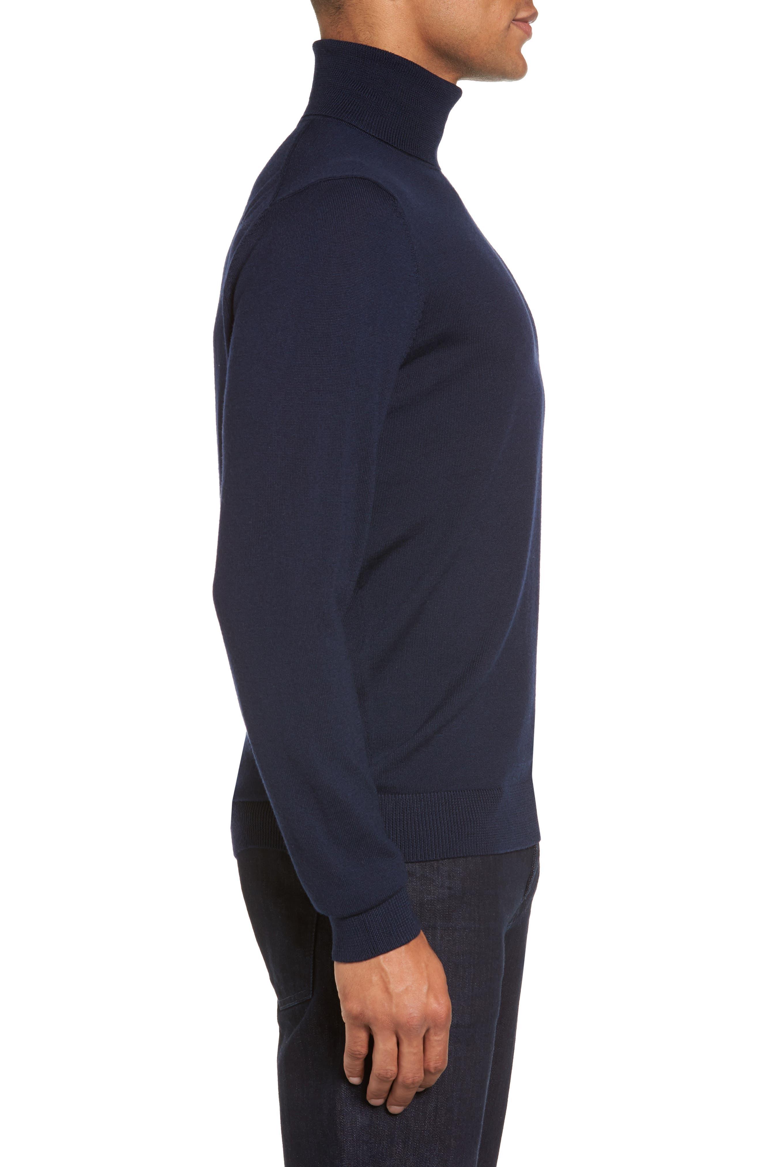 Merino Wool Turtleneck Sweater,                             Alternate thumbnail 17, color,