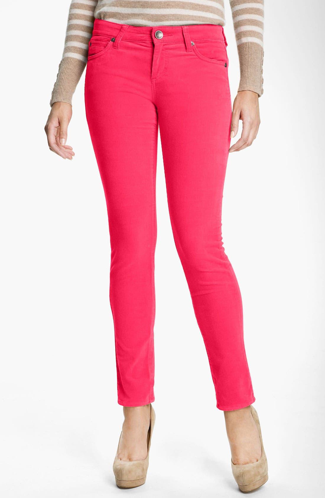 'Diana' Stretch Corduroy Skinny Pants,                             Main thumbnail 44, color,