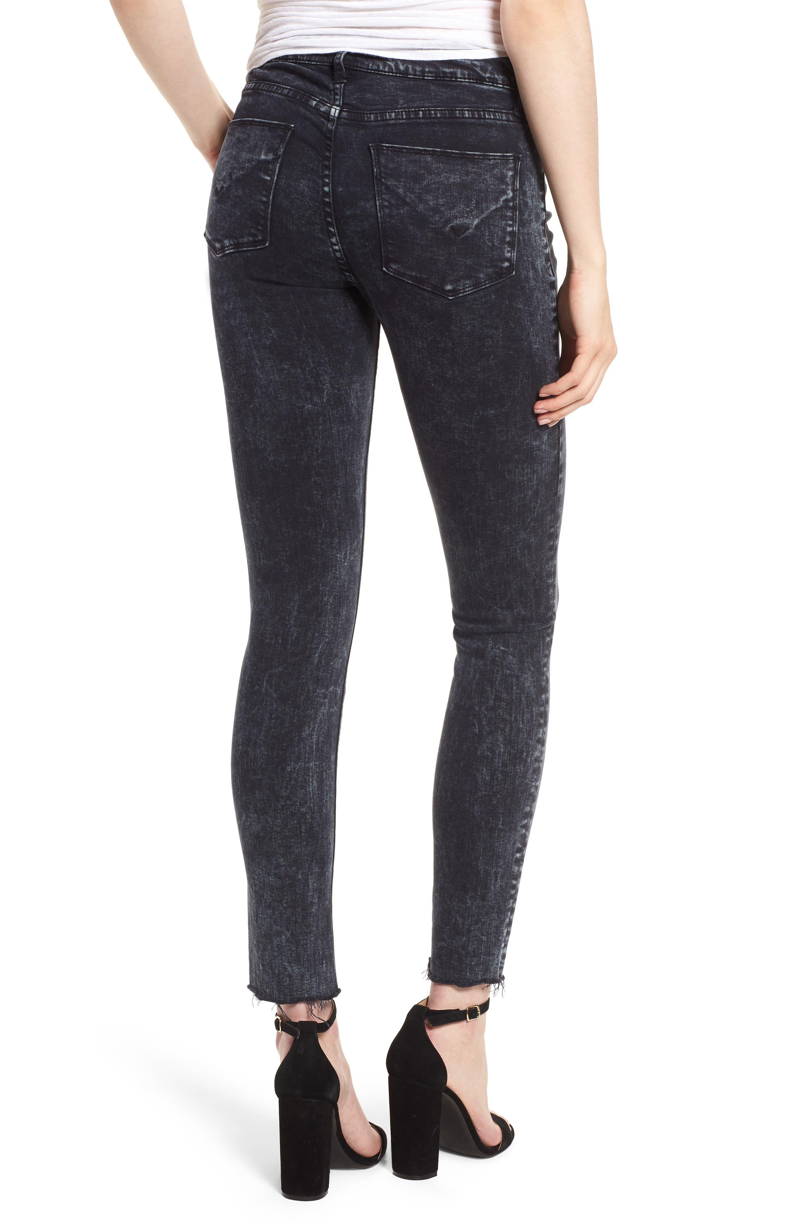 Barbara High Waist Ankle Skinny Jeans,                             Alternate thumbnail 2, color,                             DAINTY