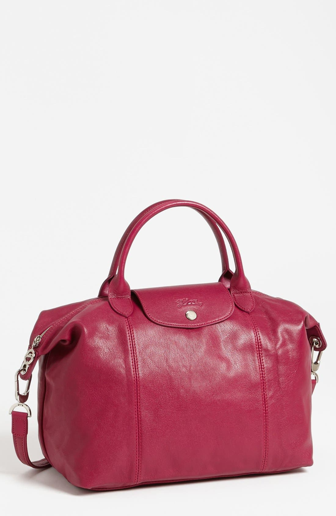 Medium 'Le Pliage Cuir' Leather Top Handle Tote,                             Main thumbnail 27, color,