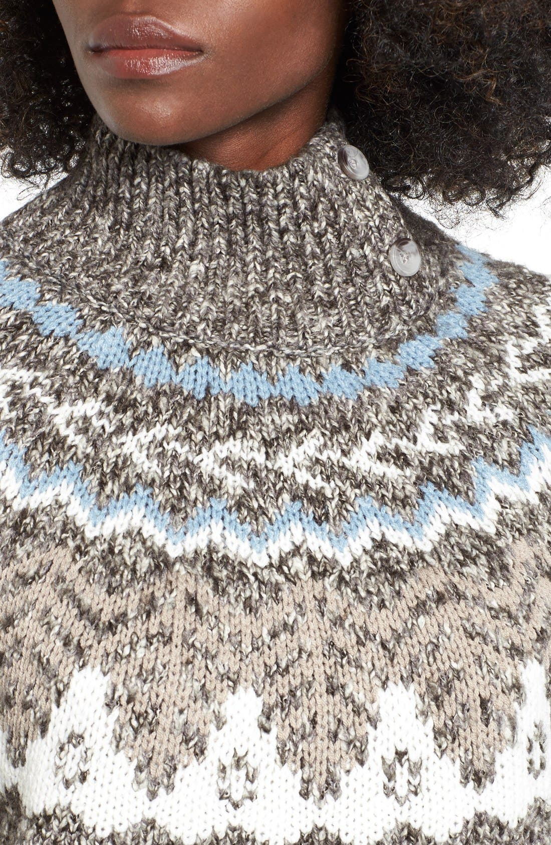 Fair Isle Knit Pullover,                             Alternate thumbnail 3, color,                             030