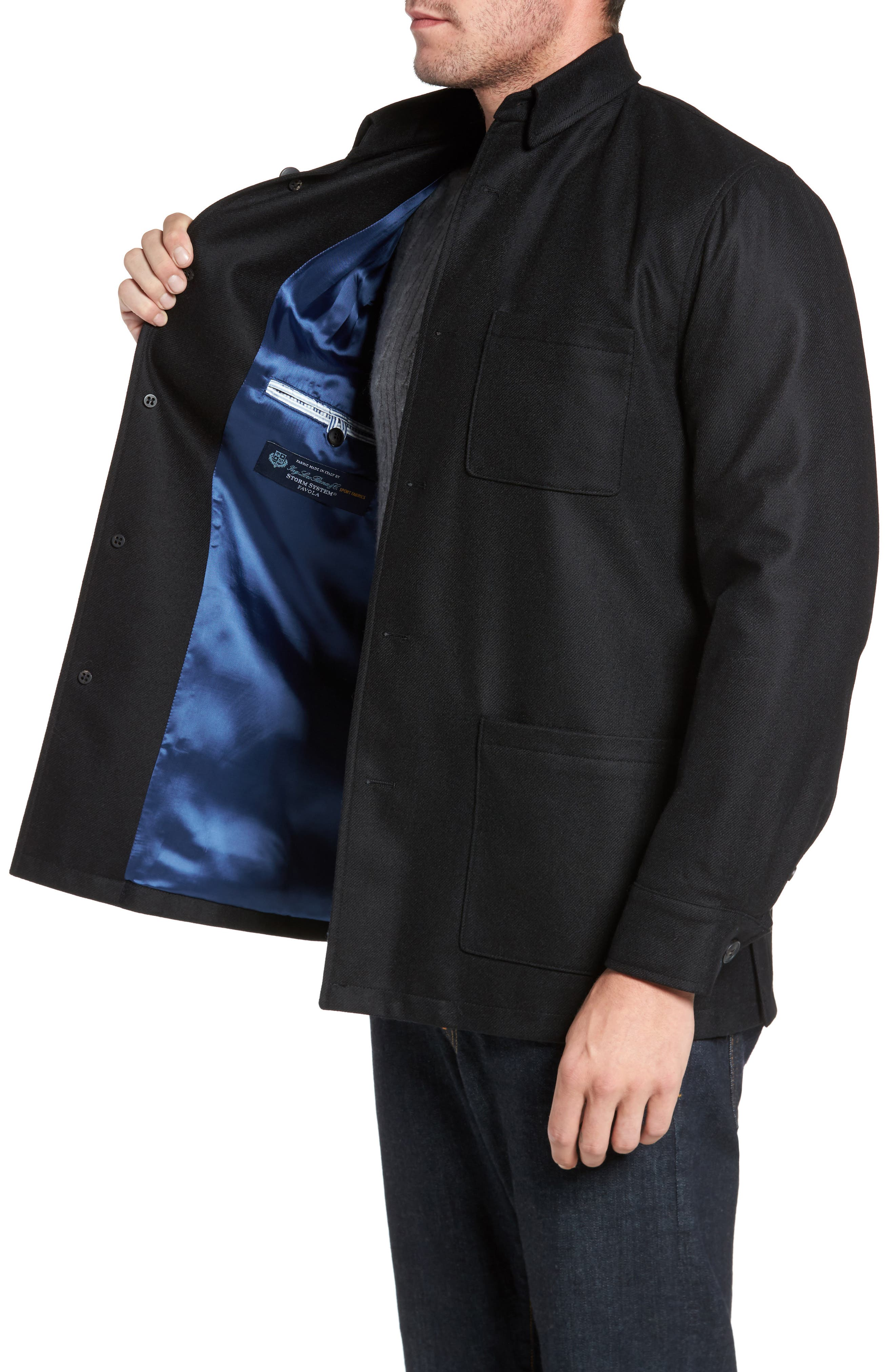 Loro Piana Storm System Shirt Jacket,                             Alternate thumbnail 3, color,                             002