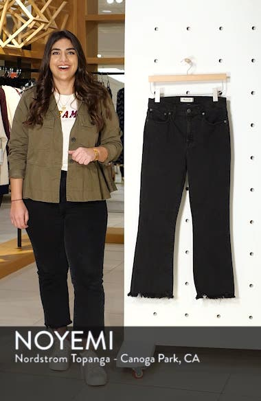 Cali Chewed Hem Demi Bootcut Jeans, sales video thumbnail