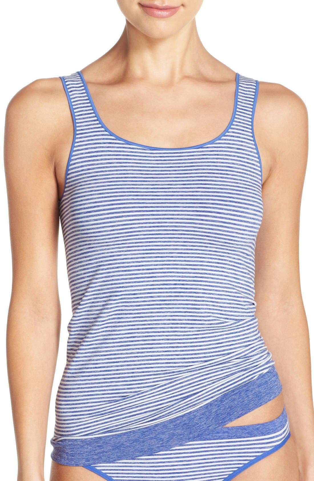 Stripe Two-Way Seamless Tank,                             Main thumbnail 1, color,                             410