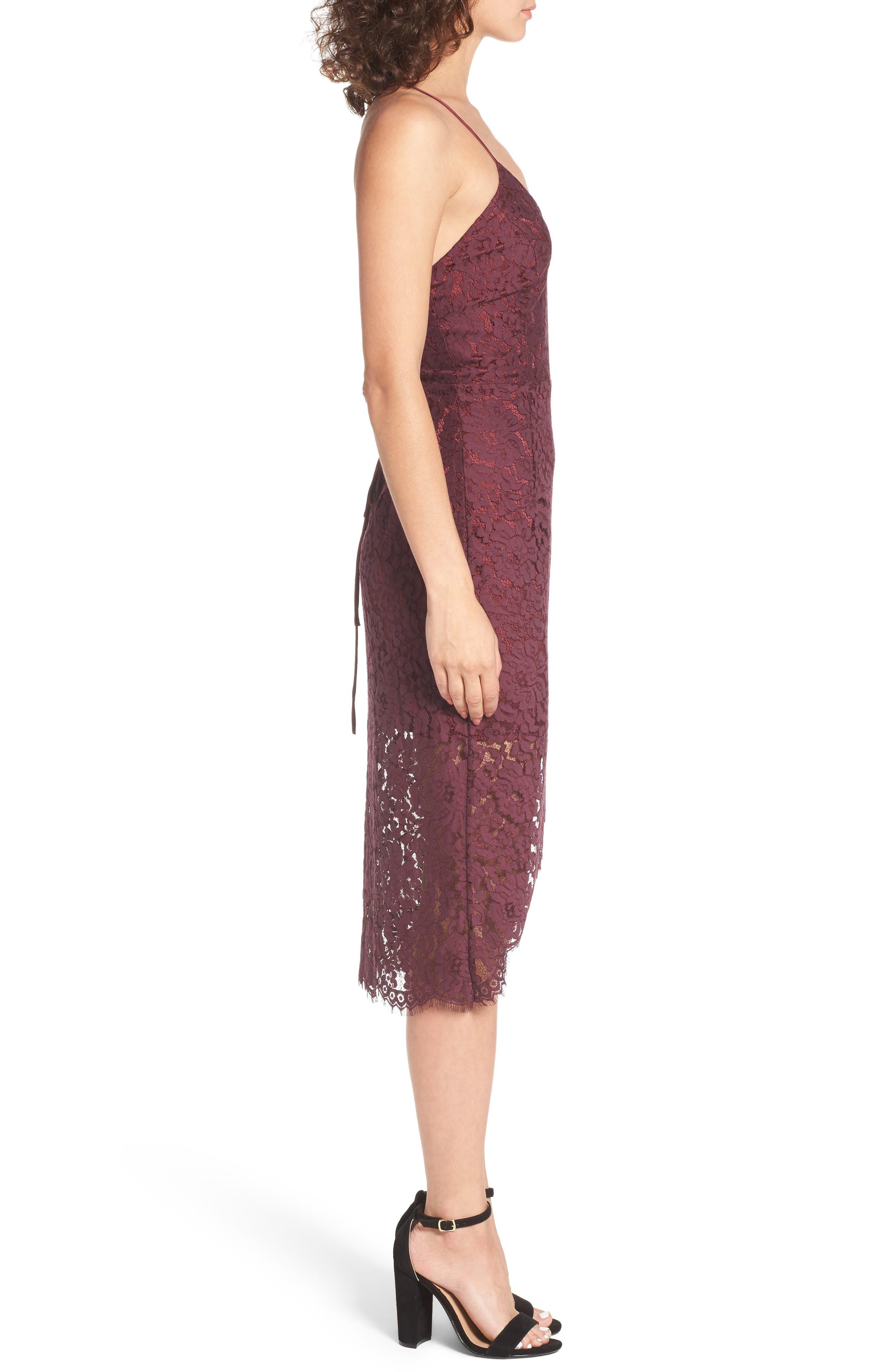 Skylight Lace Midi Dress,                             Alternate thumbnail 3, color,                             938