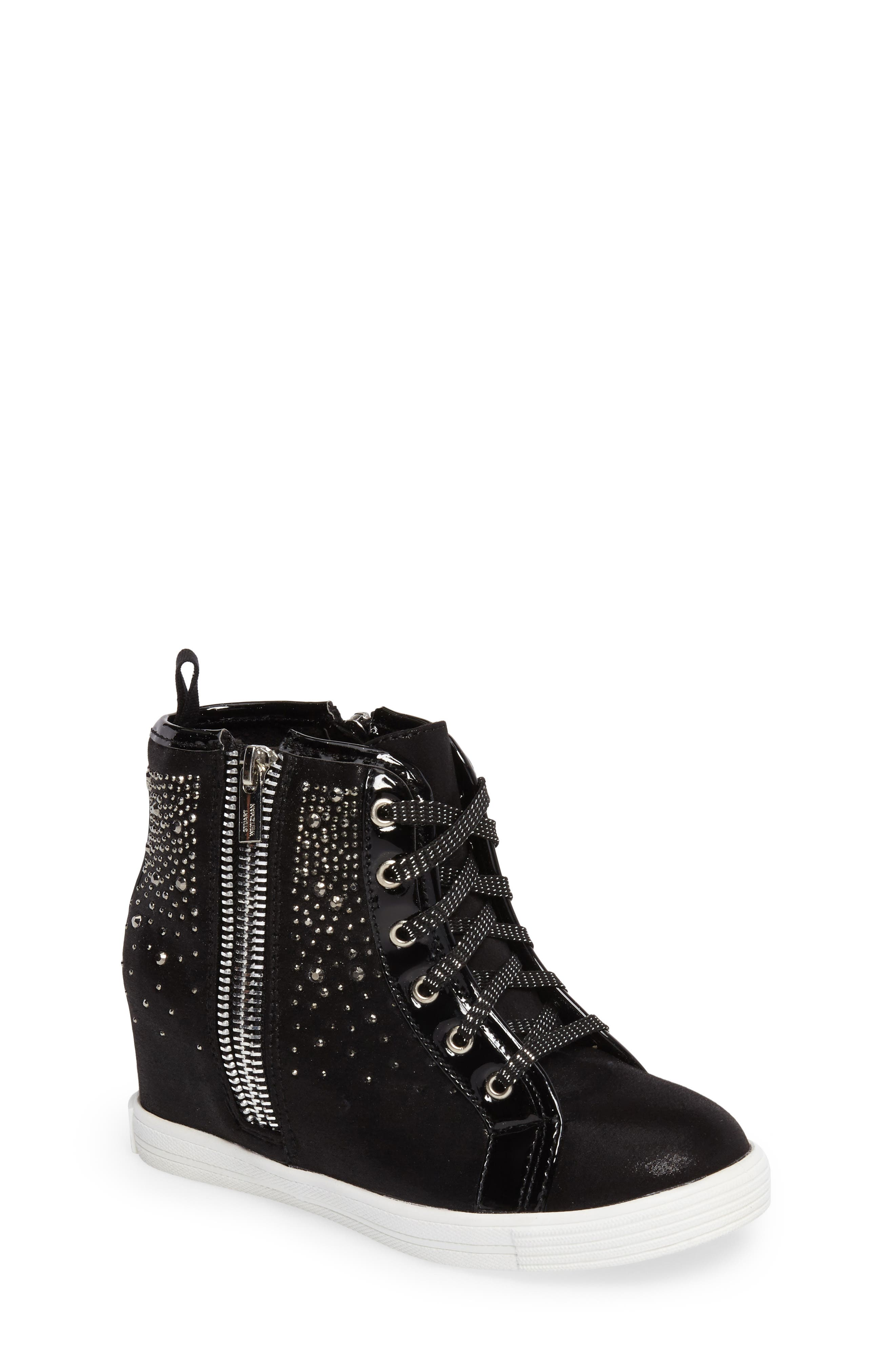 Vance Double Embellished Concealed Wedge High Top,                         Main,                         color, 001