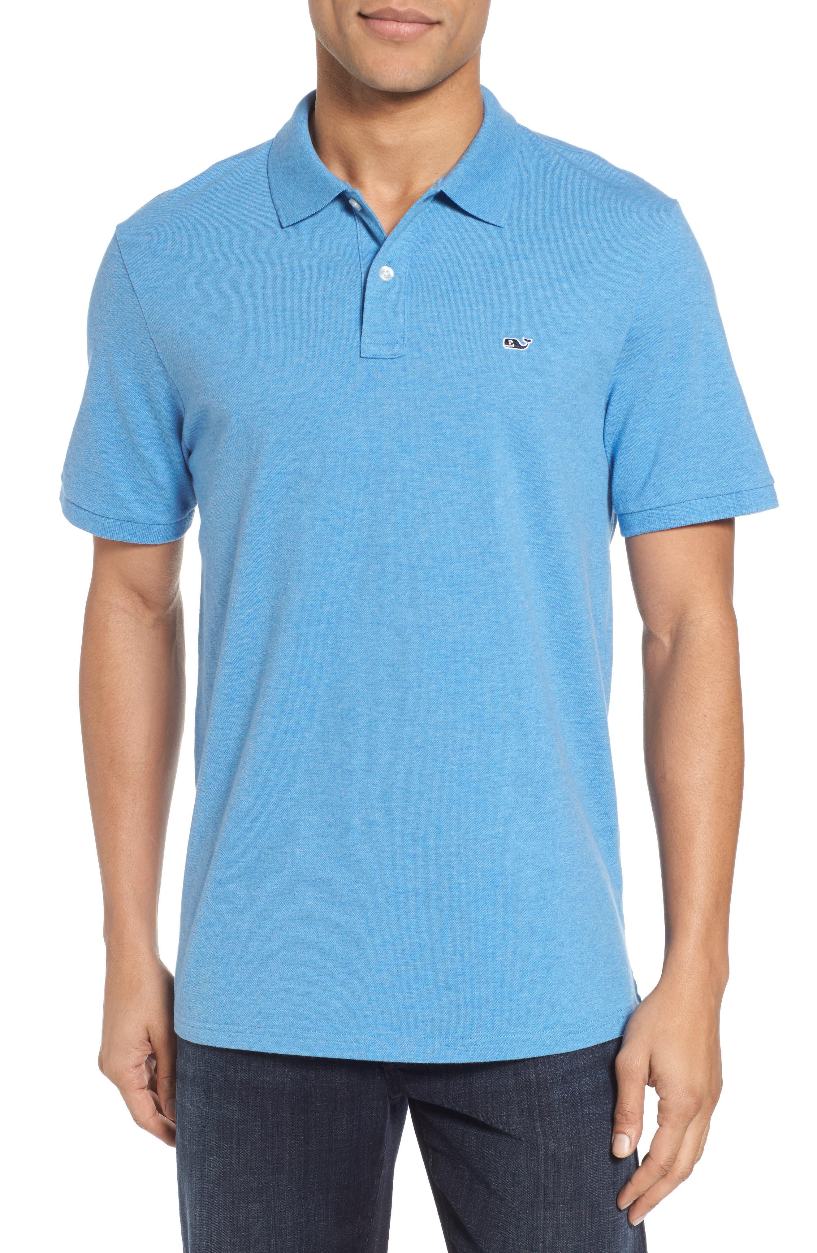 Regular Fit Piqué Polo,                         Main,                         color, DOCKSIDE BLUE