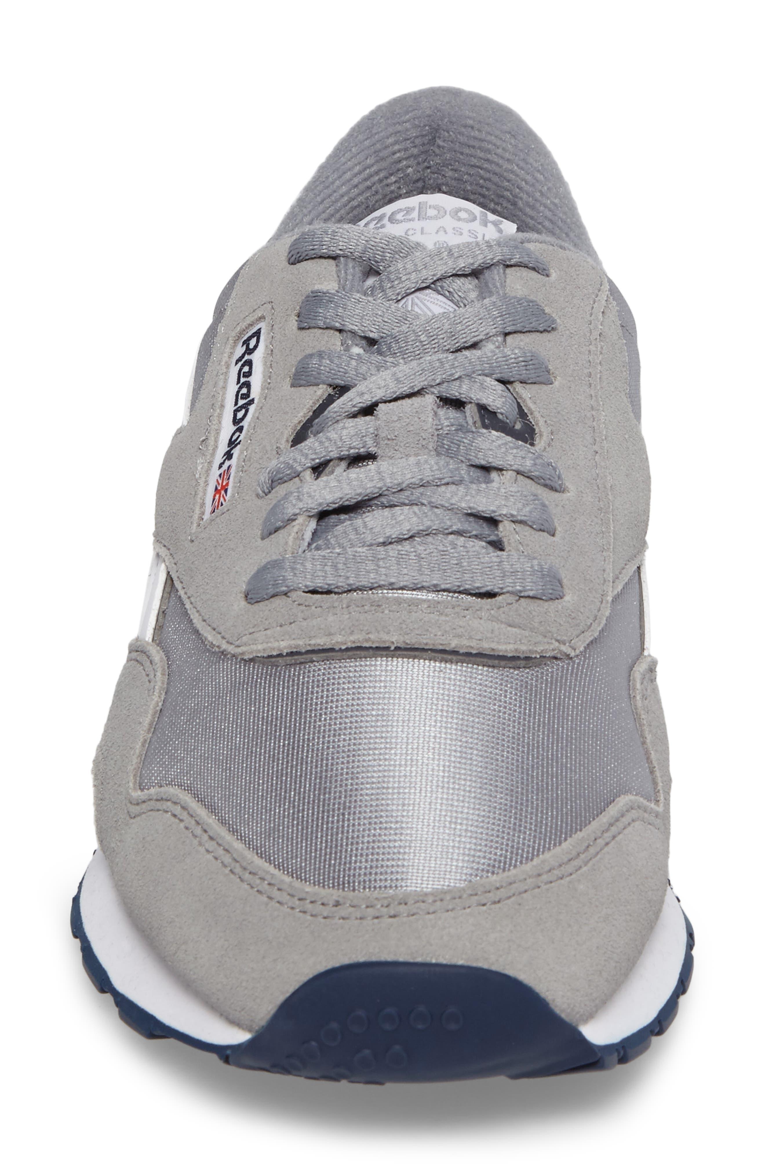 Classic Nylon Sneaker,                             Alternate thumbnail 4, color,                             PLATINUM/ JET BLUE