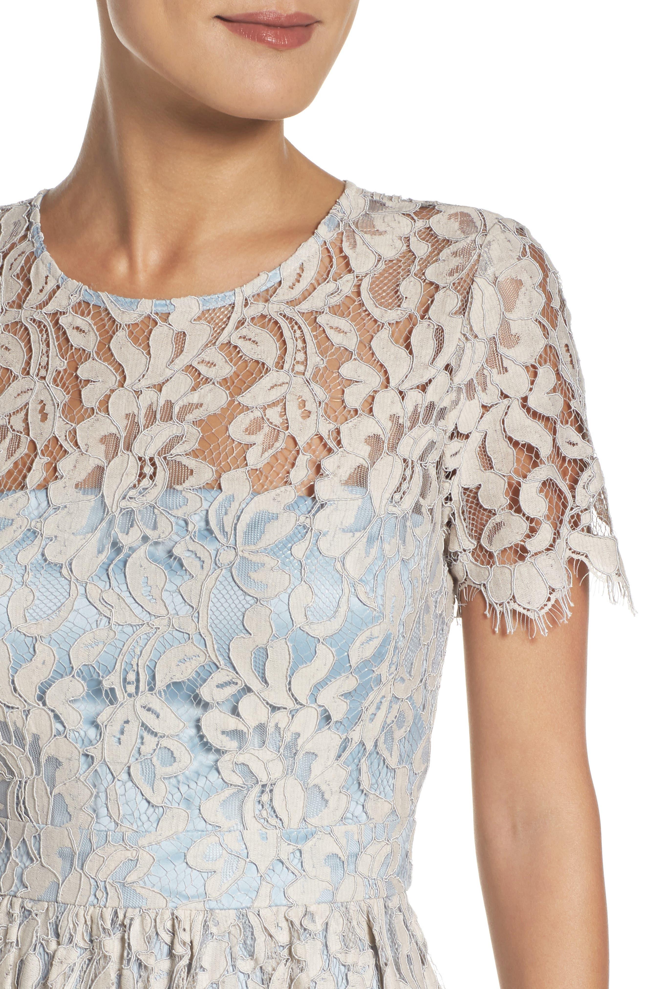Fit & Flare Dress,                             Alternate thumbnail 4, color,                             451