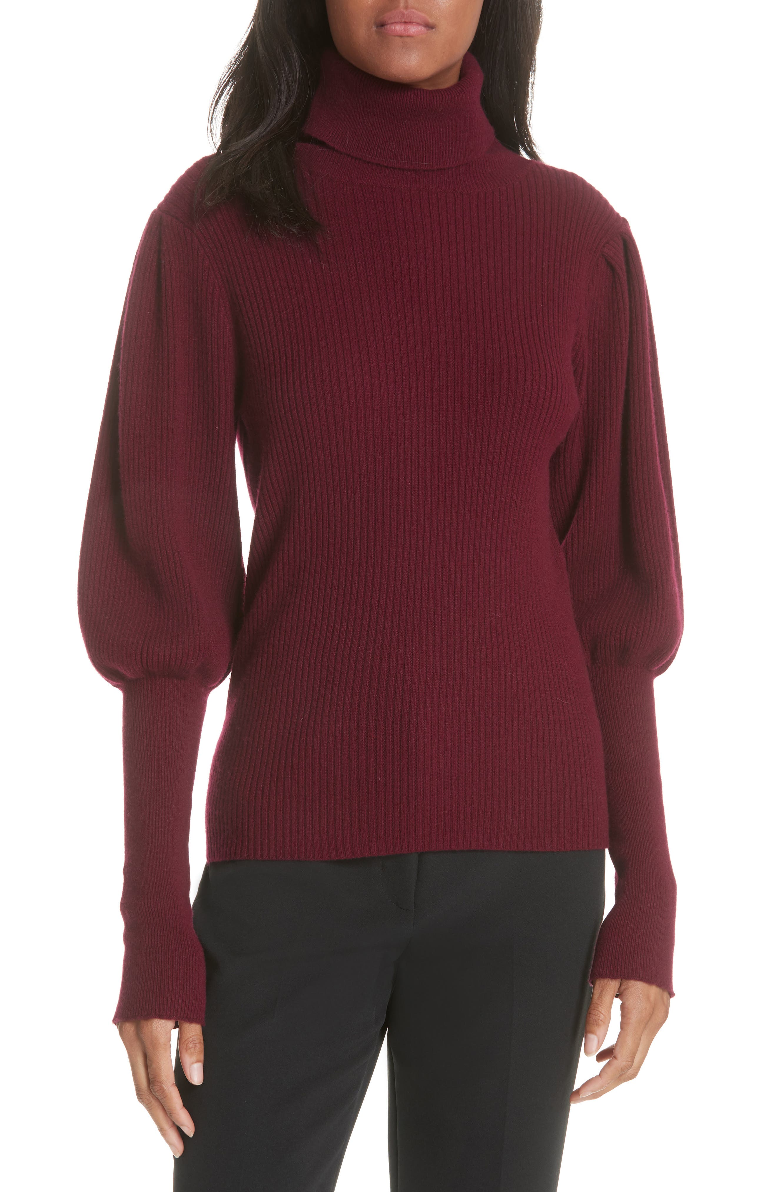 Bishop Sleeve Cashmere Sweater,                             Main thumbnail 1, color,                             933