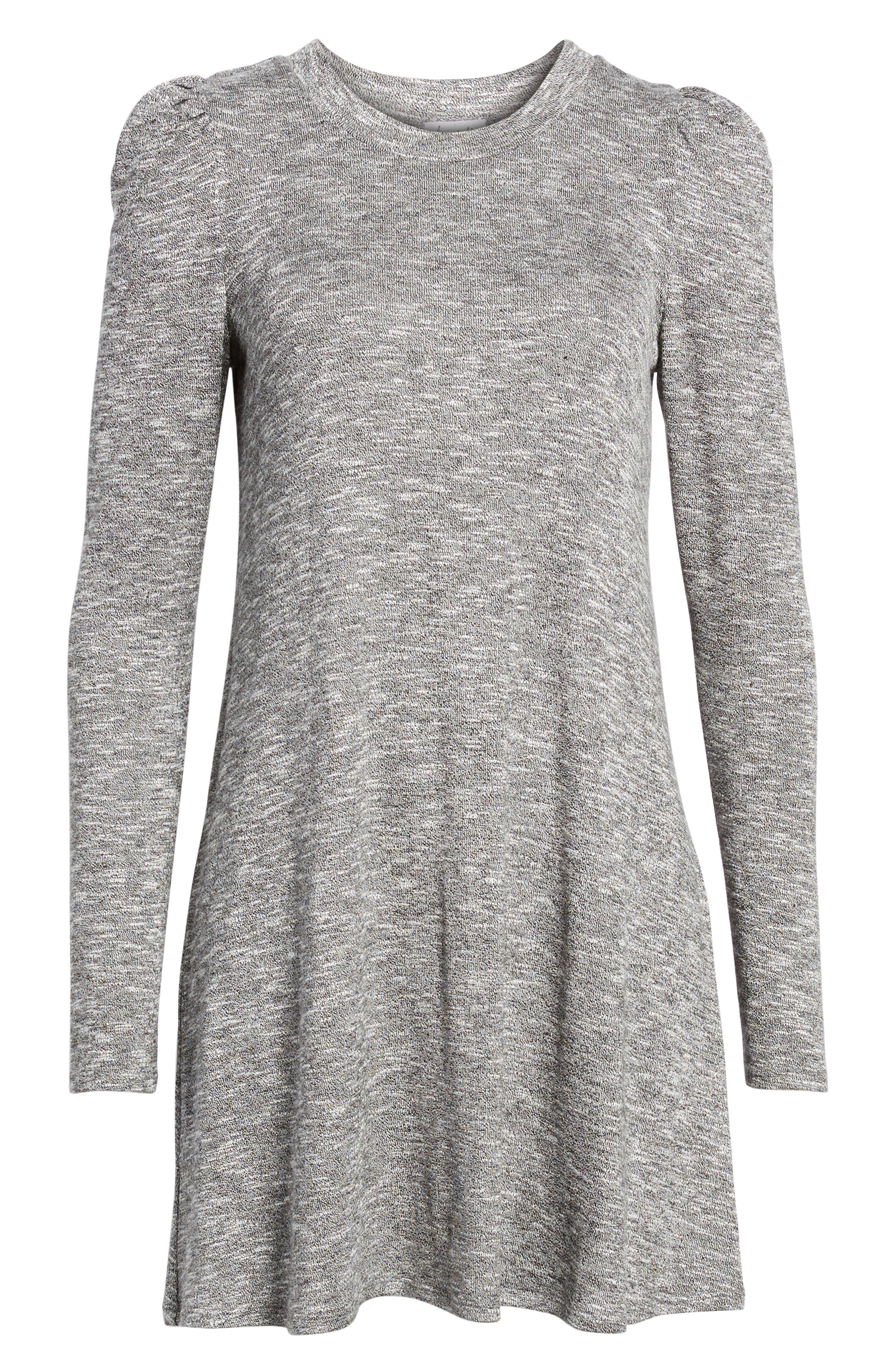 Knit Puff Shoulder Dress,                             Alternate thumbnail 12, color,