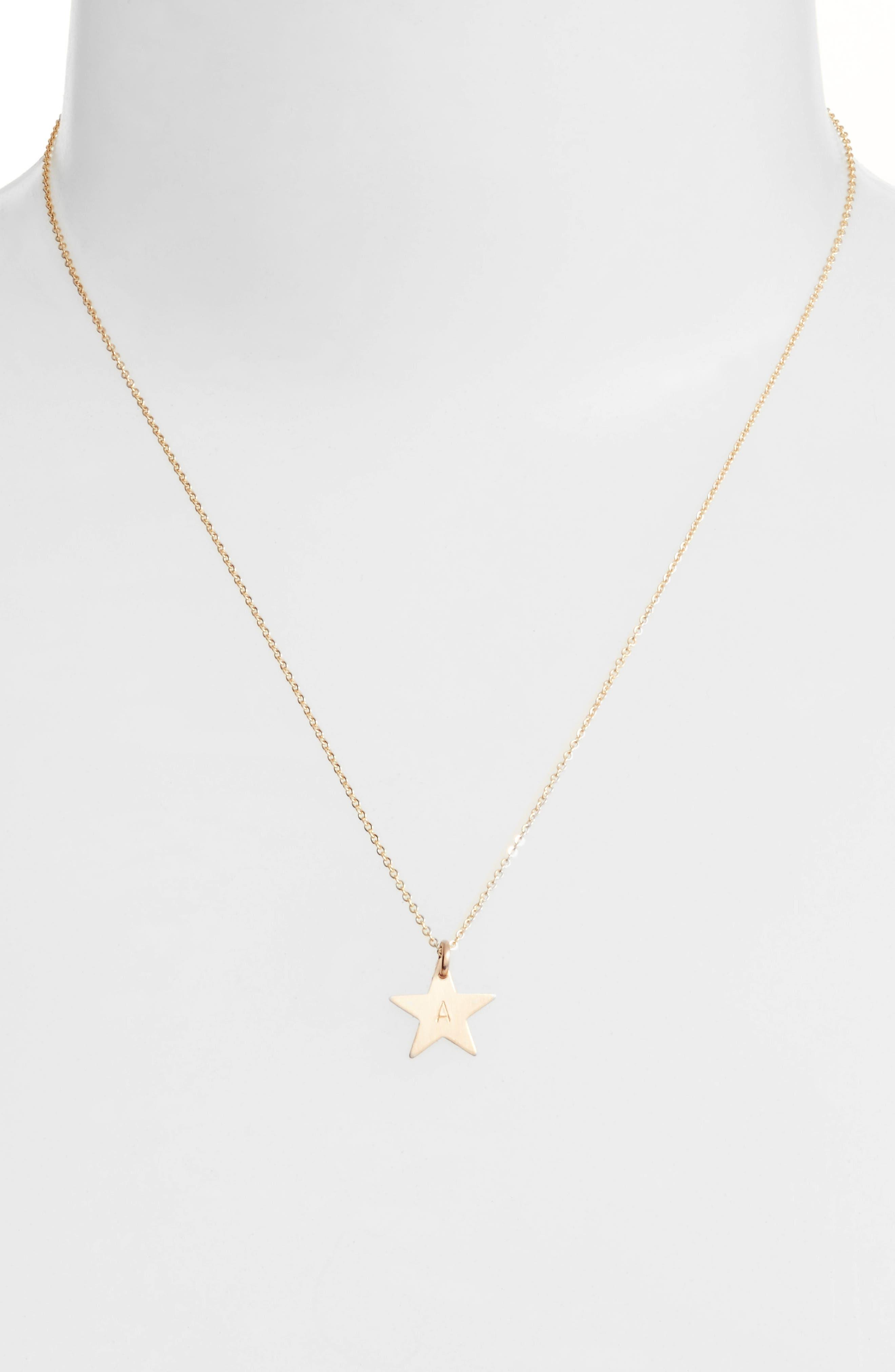 14k-Gold Fill Initial Mini Star Pendant Necklace,                             Alternate thumbnail 2, color,                             710