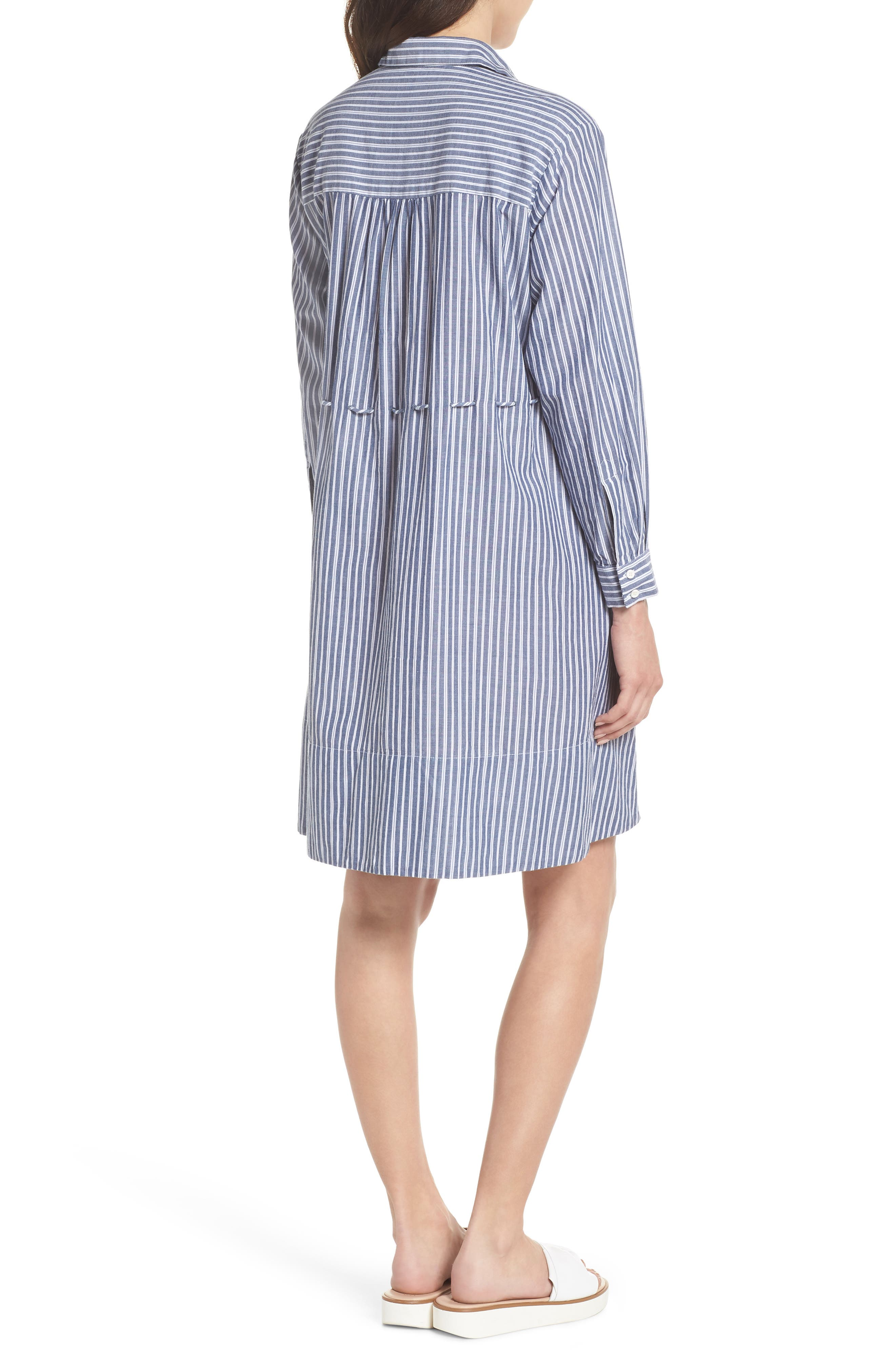 Tatus Stripe Drawstring Cotton Shirtdress,                             Alternate thumbnail 2, color,                             452