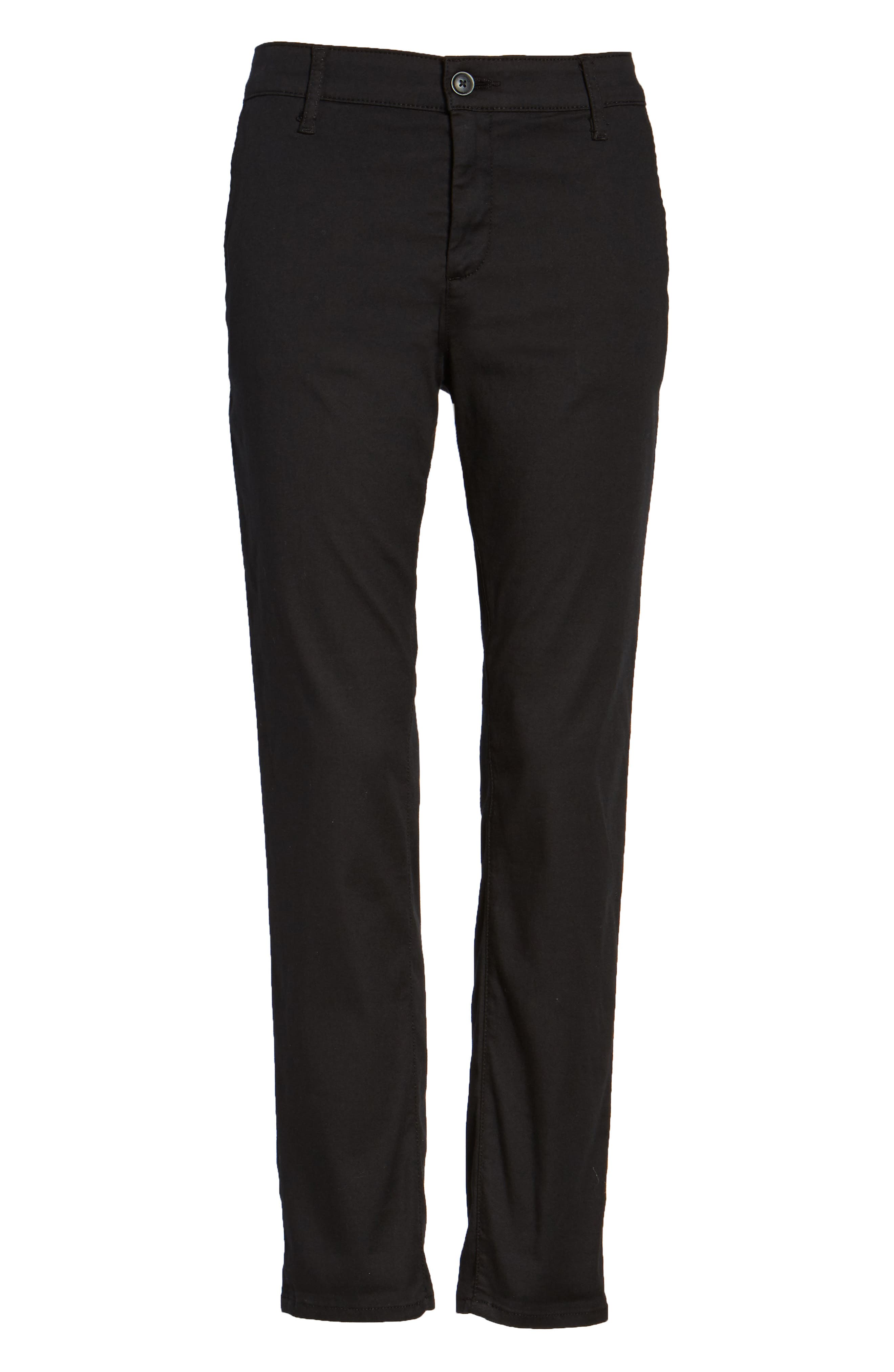 The Caden Crop Slim Trousers,                             Alternate thumbnail 6, color,                             010