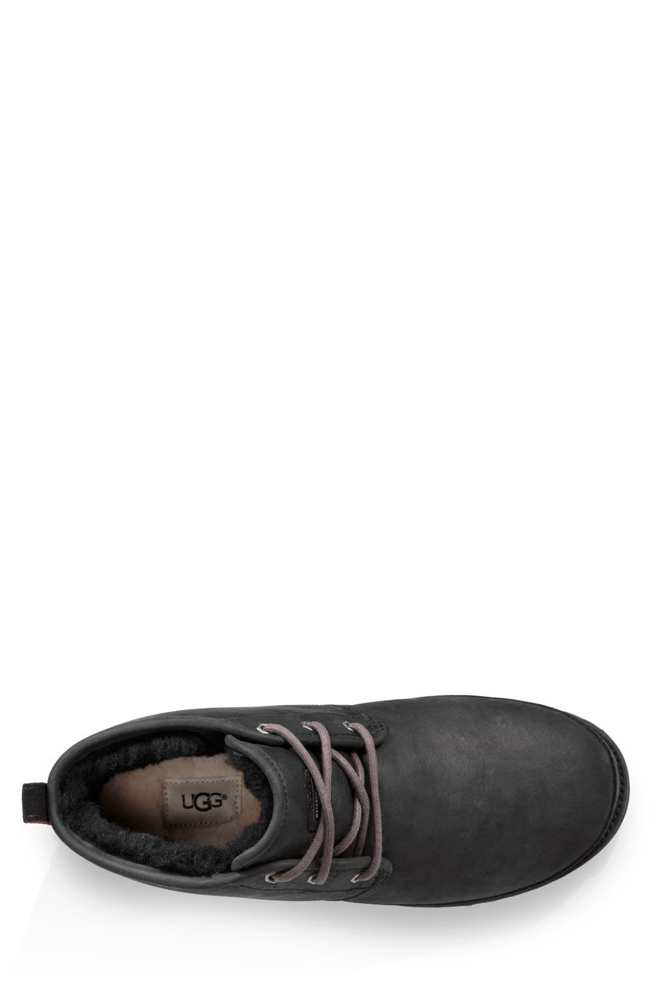 UGG<SUP>®</SUP>,                             Neumel Waterproof Chukka Boot,                             Alternate thumbnail 4, color,                             BLACK