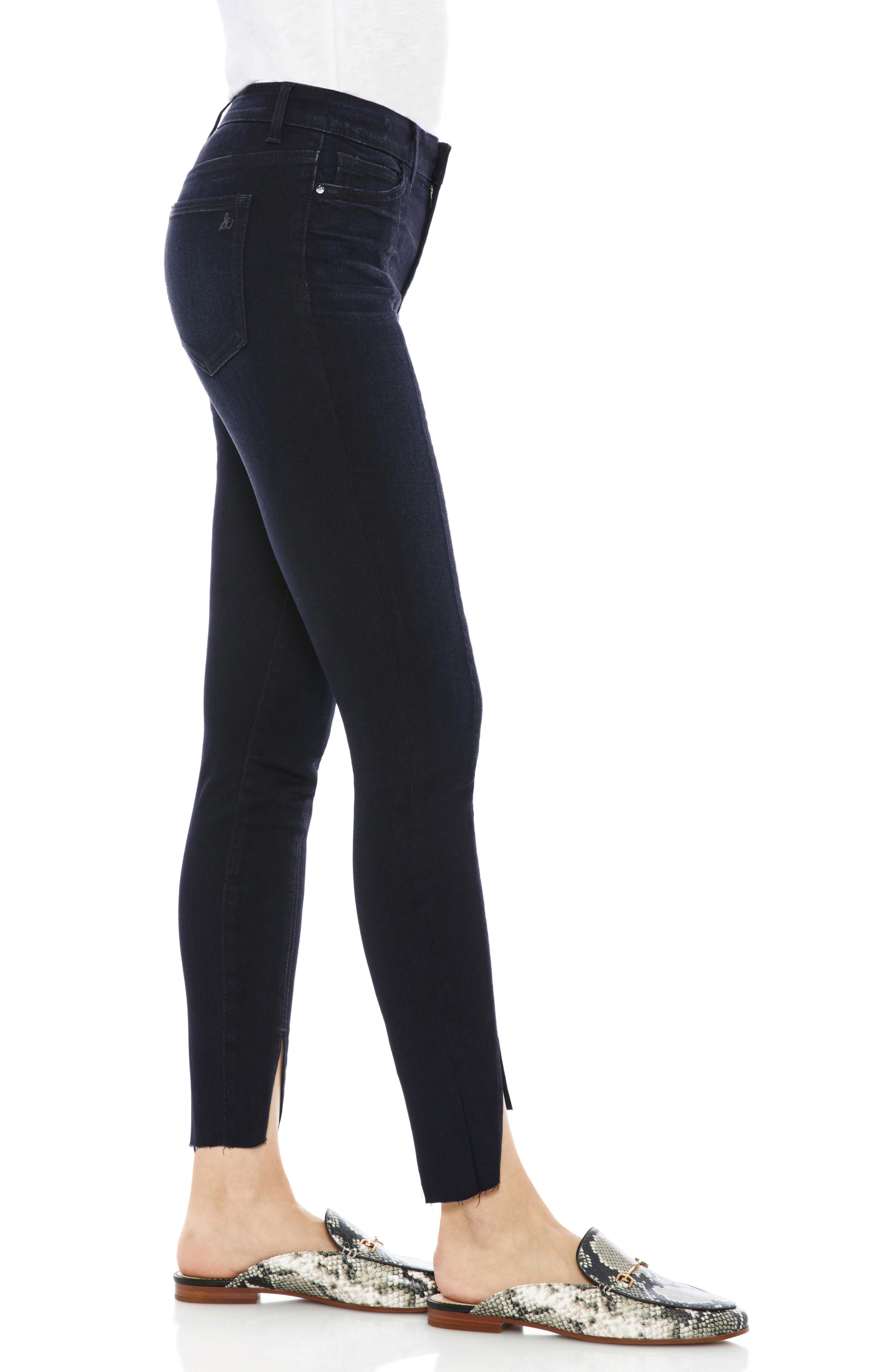 The Stiletto Pintuck High Rise Skinny Jeans,                             Alternate thumbnail 3, color,                             400