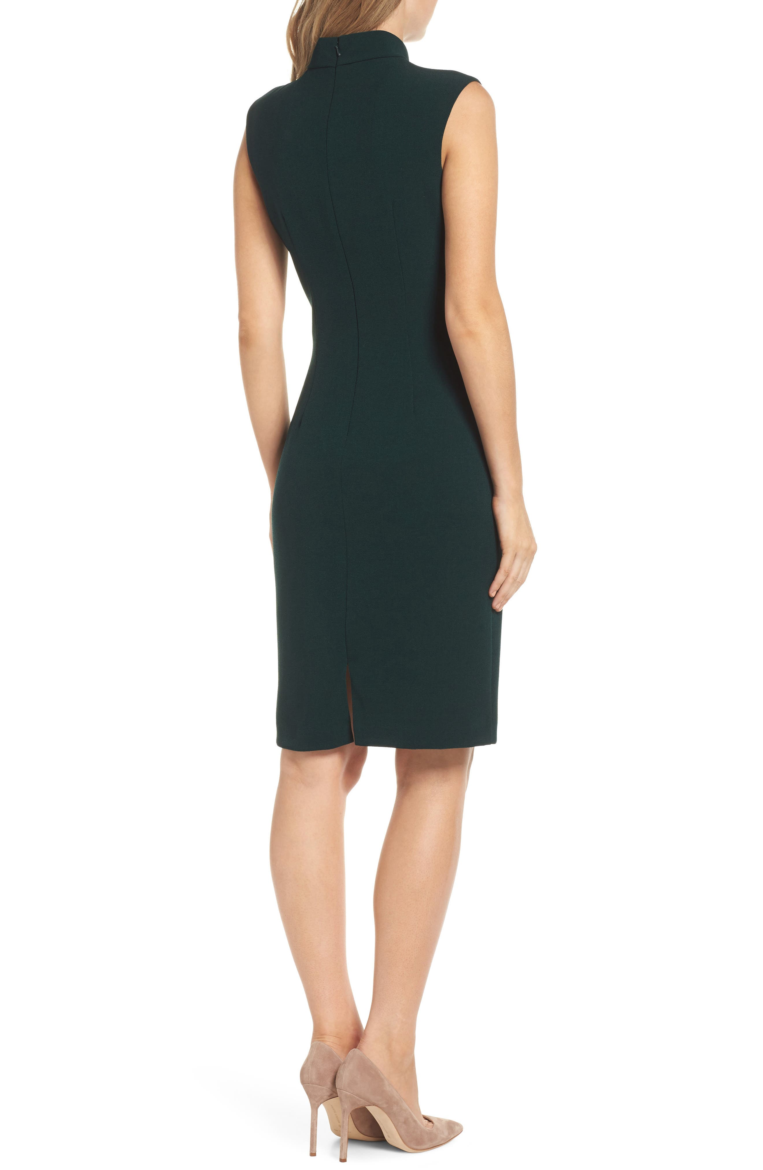 HARPER ROSE,                             Tie Neck Sheath Dress,                             Alternate thumbnail 2, color,                             302