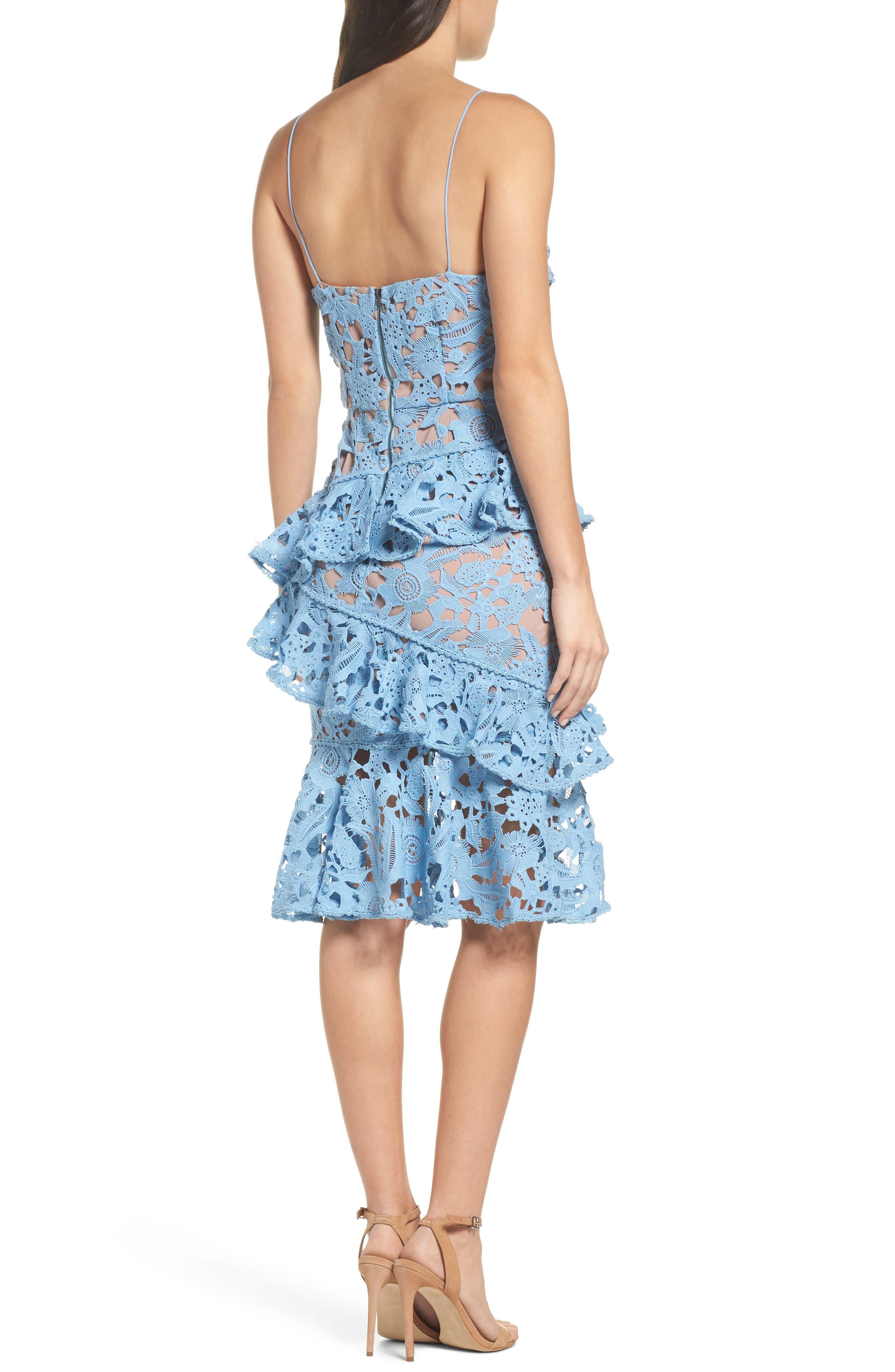 Lace Parfait Ruffle Dress,                             Alternate thumbnail 2, color,