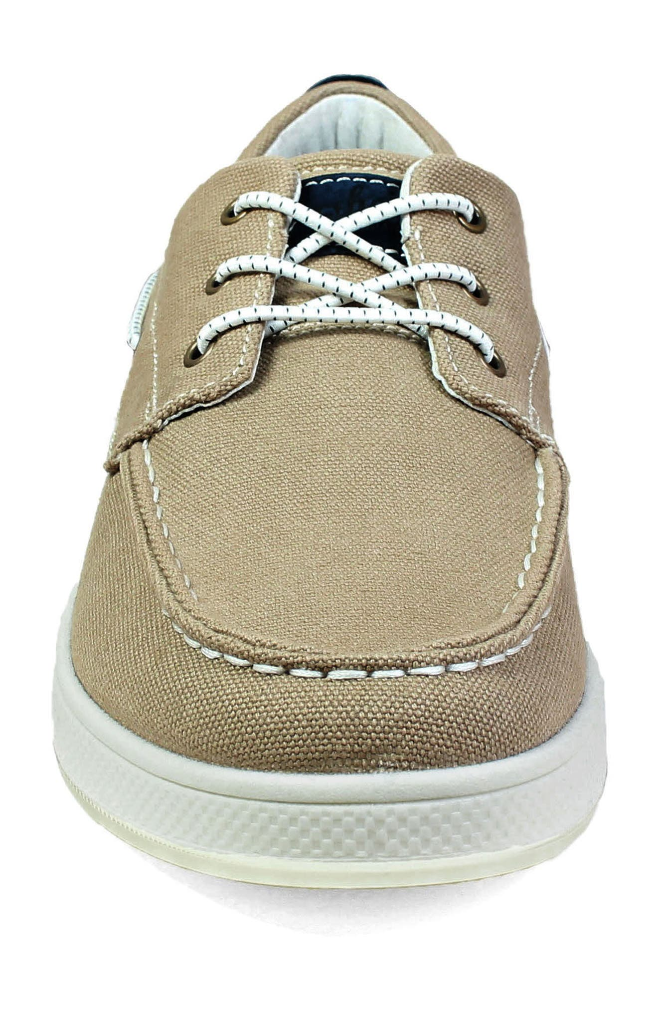 FLORSHEIM,                             Edge Boat Shoe,                             Alternate thumbnail 4, color,                             KHAKI CANVAS