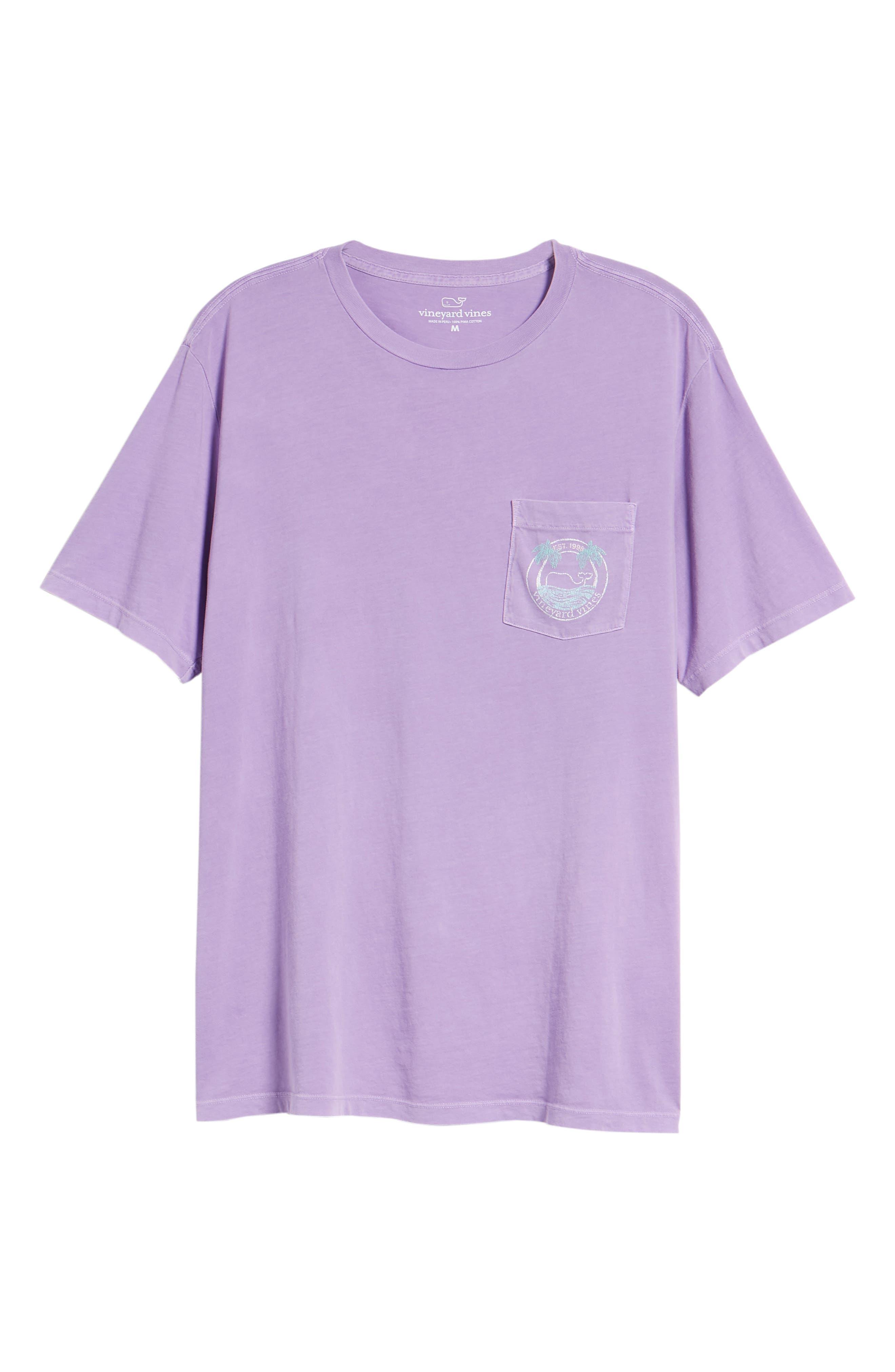 Tropical Crest Pima Cotton Pocket T-Shirt,                             Alternate thumbnail 6, color,