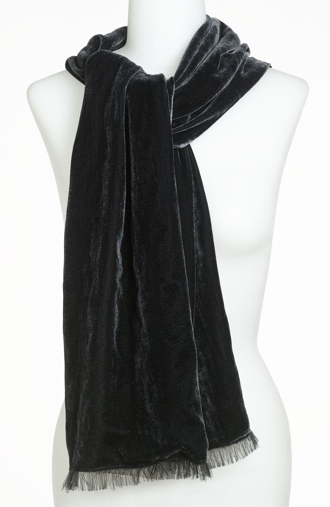 Velvet Chiffon Scarf,                         Main,                         color, 001
