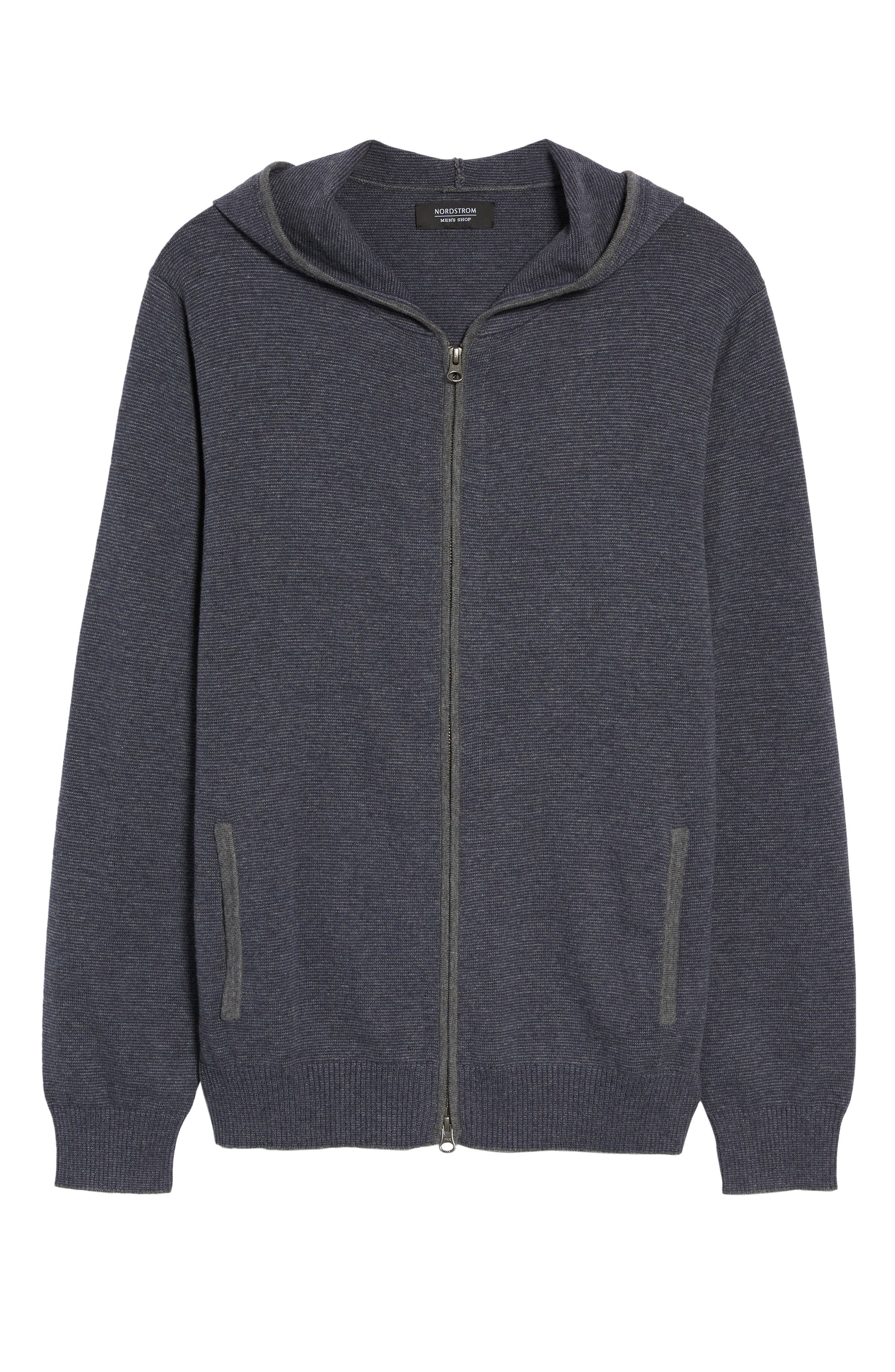 Zip Front Hooded Sweater,                             Alternate thumbnail 17, color,