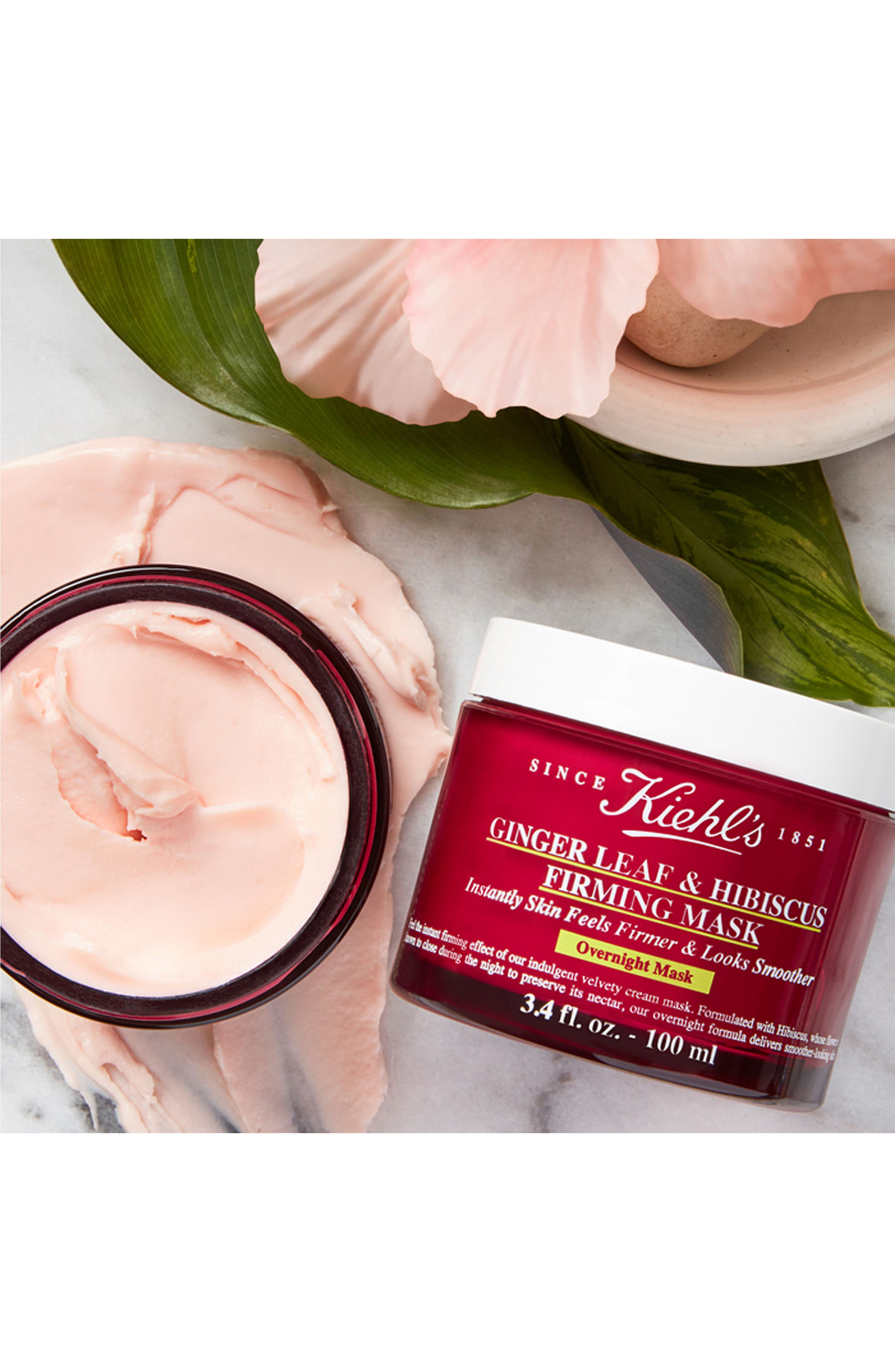 Ginger Leaf & Hibiscus Firming Mask,                             Alternate thumbnail 4, color,                             NO COLOR