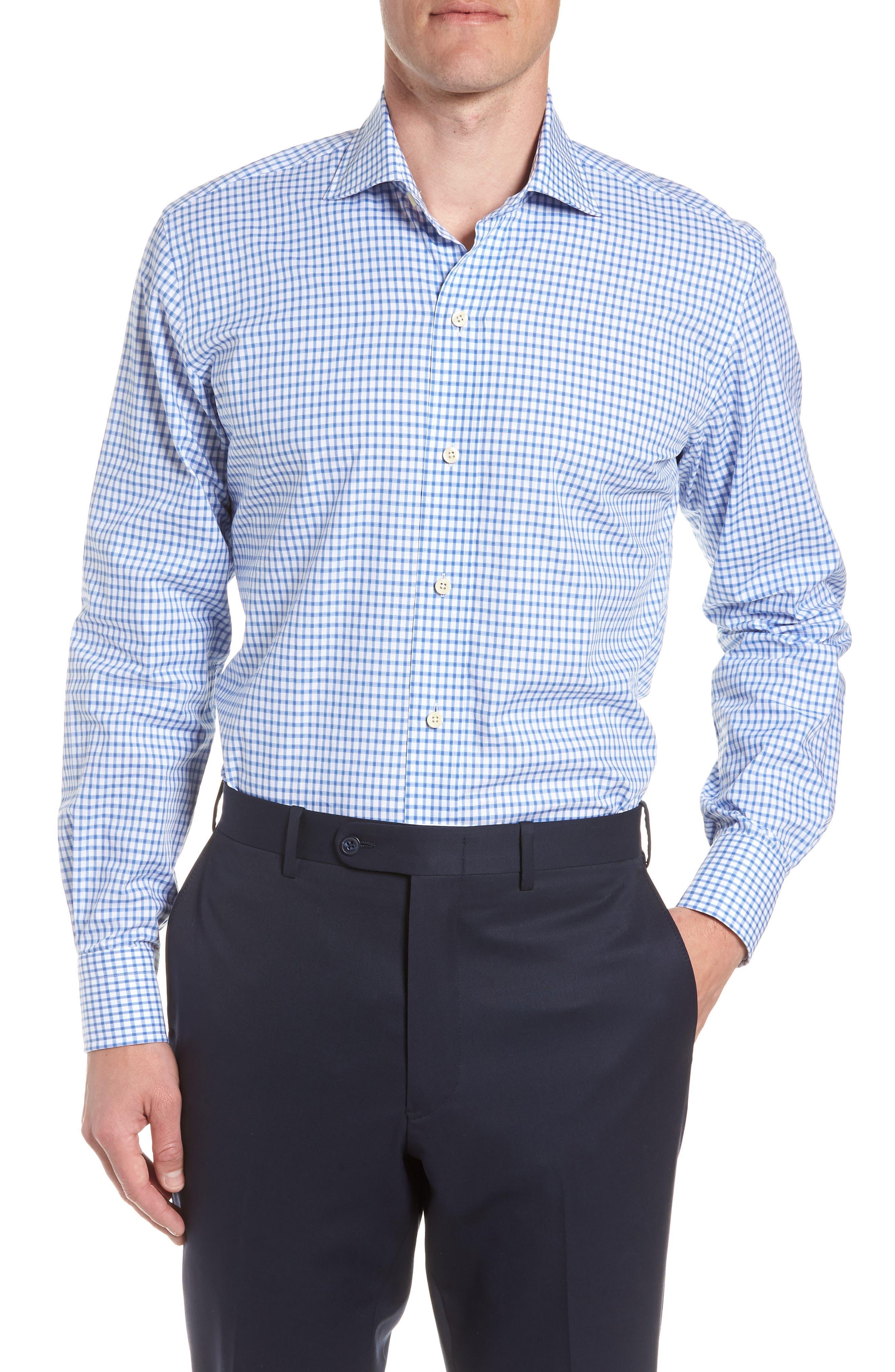 Garrison Slim Fit Check Dress Shirt,                         Main,                         color,