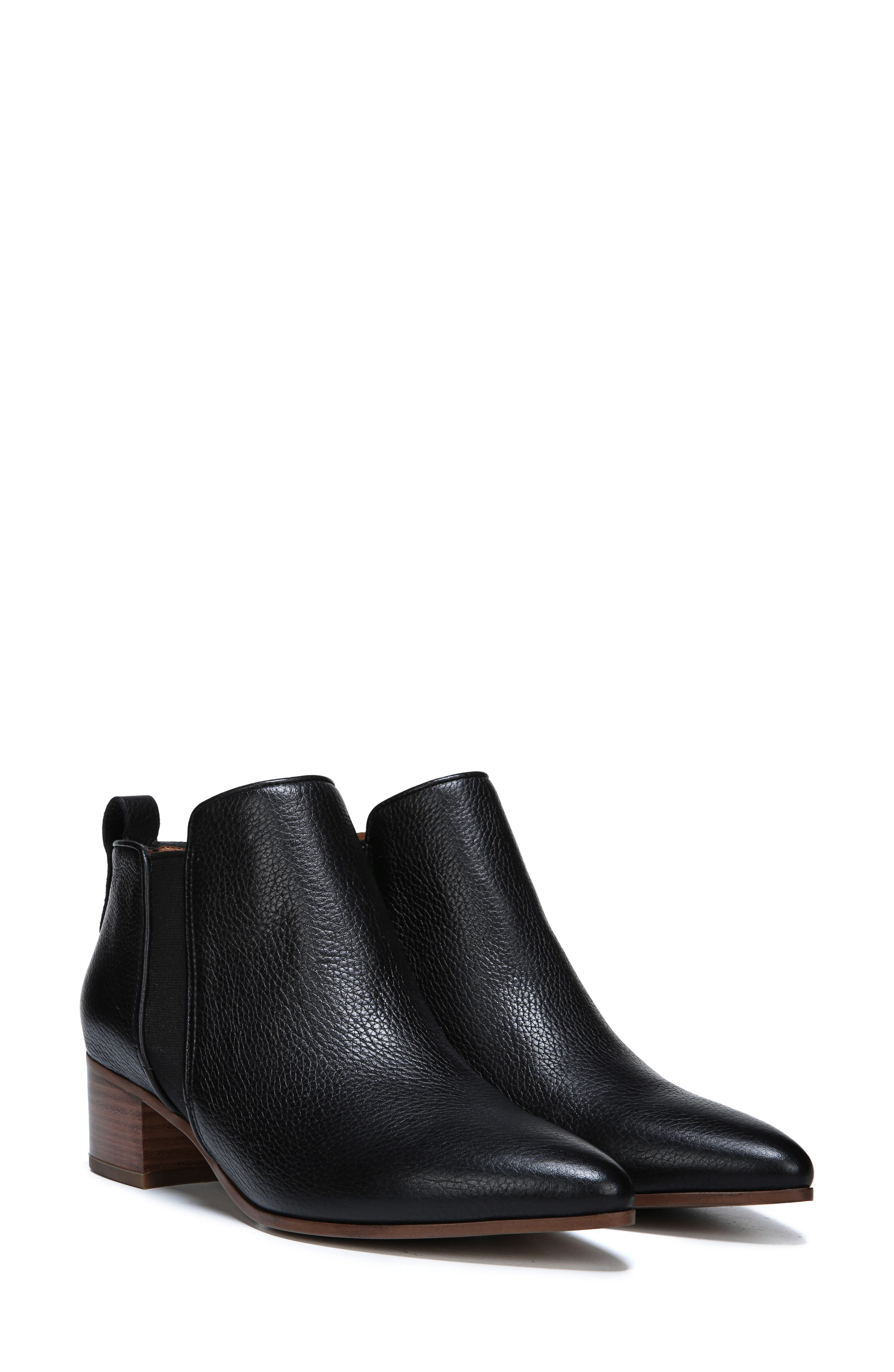 Jollie Bootie,                             Alternate thumbnail 6, color,                             BLACK LEATHER
