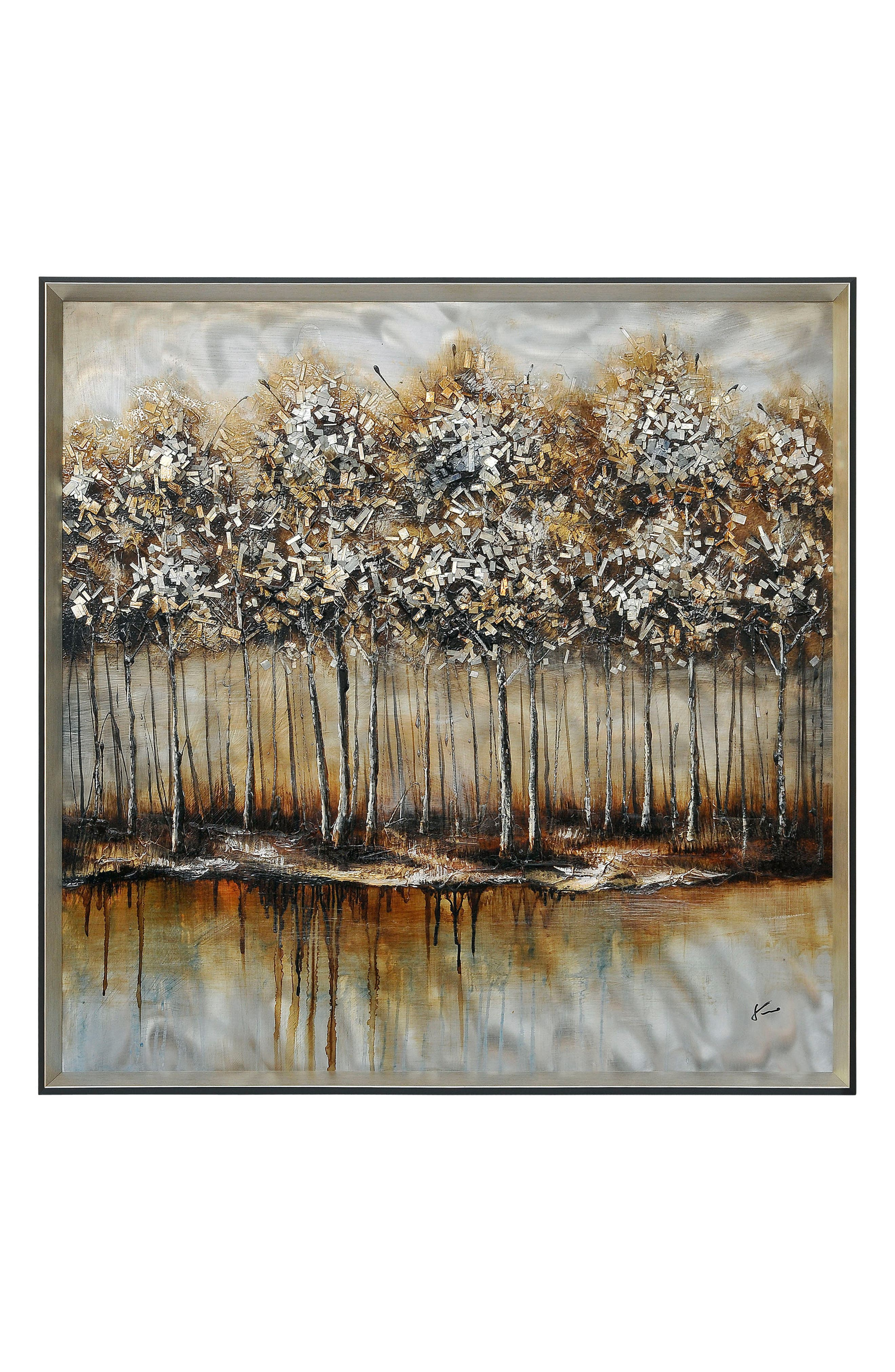Metallic Forest Wall Art,                         Main,                         color, MULTICOLOR