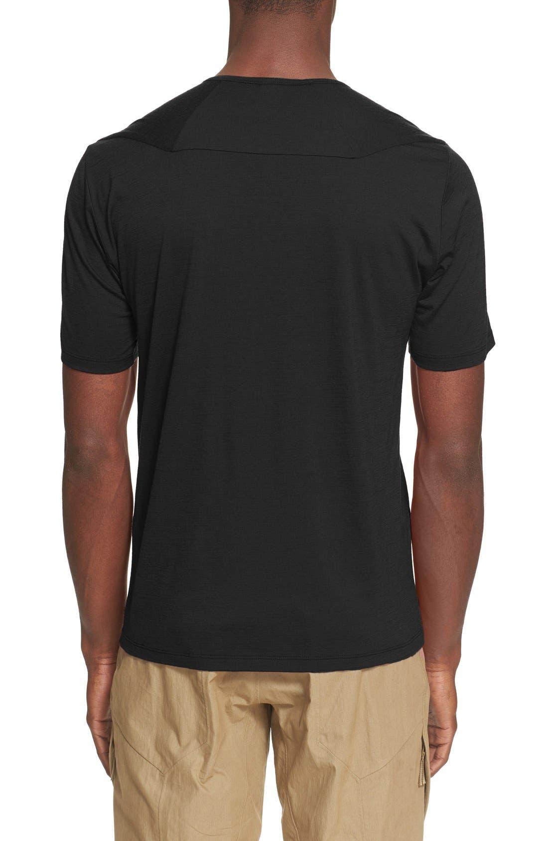 ARC'TERYX VEILANCE,                             'Frame' Merino Wool T-Shirt,                             Alternate thumbnail 2, color,                             001