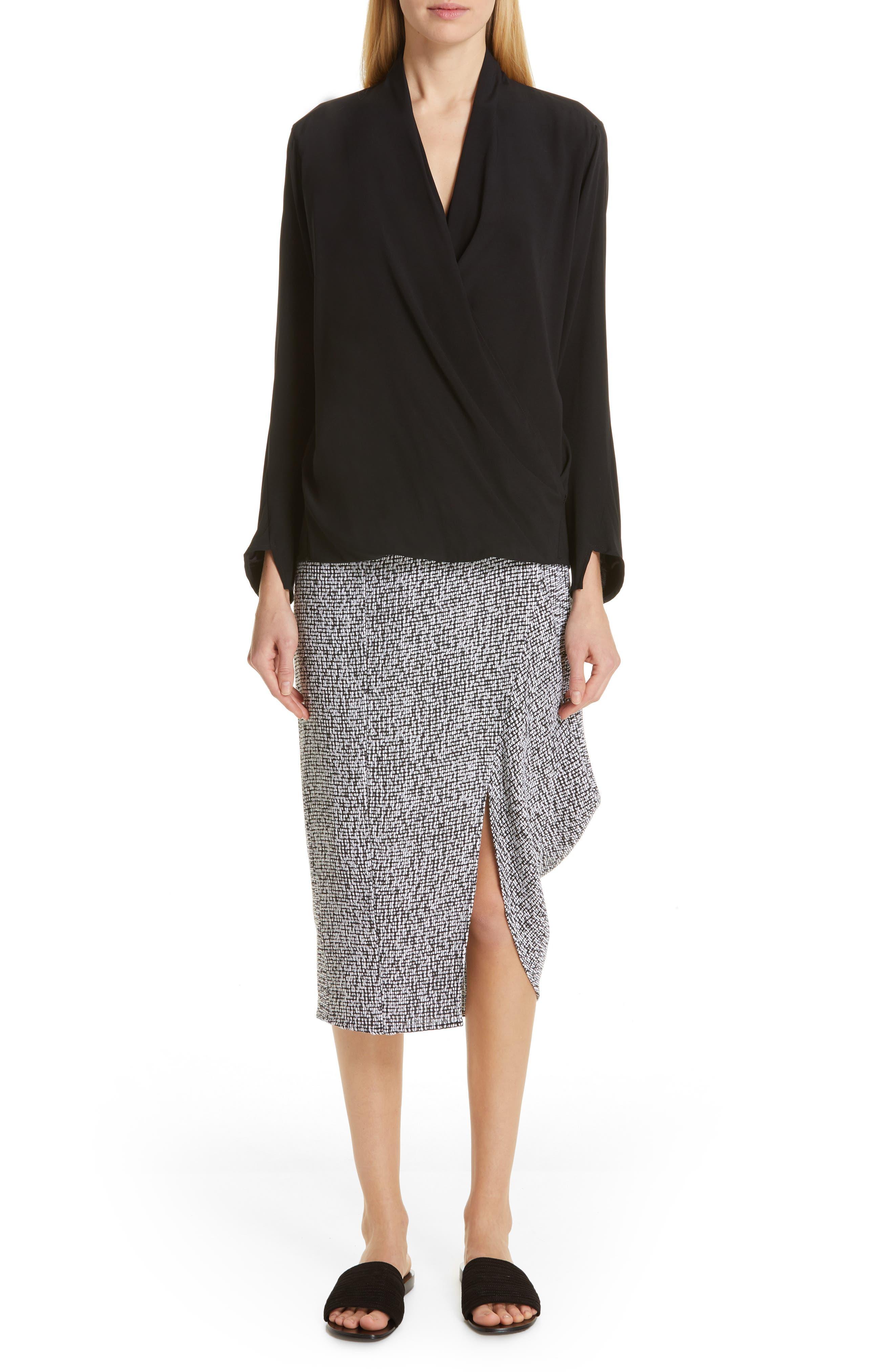 Mio Skirt,                             Alternate thumbnail 7, color,                             WHITE/ BLACK
