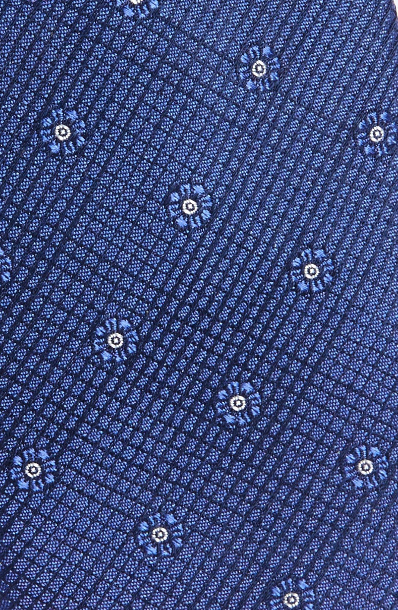 Fleur Medallion Silk Skinny Tie,                             Alternate thumbnail 10, color,
