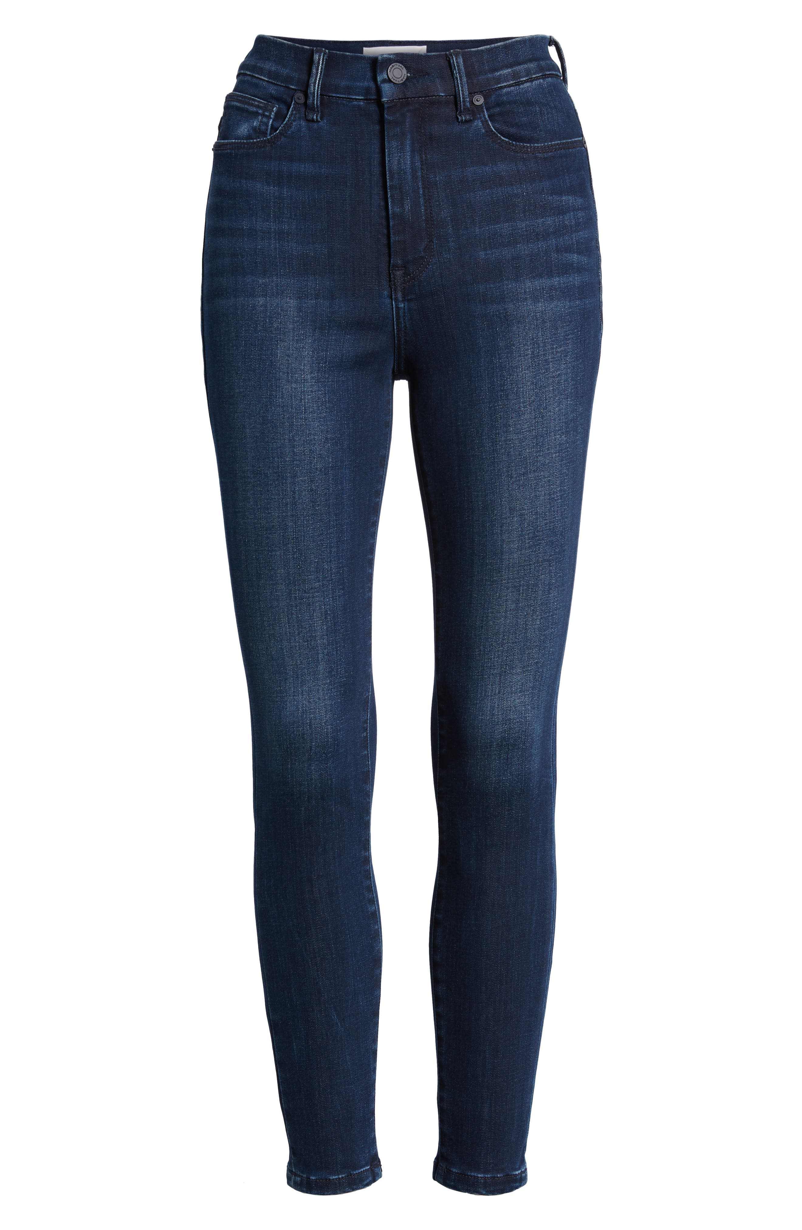 Cressa High Rise Ankle Skinny Jeans,                             Alternate thumbnail 7, color,                             SUGAR MAPLE