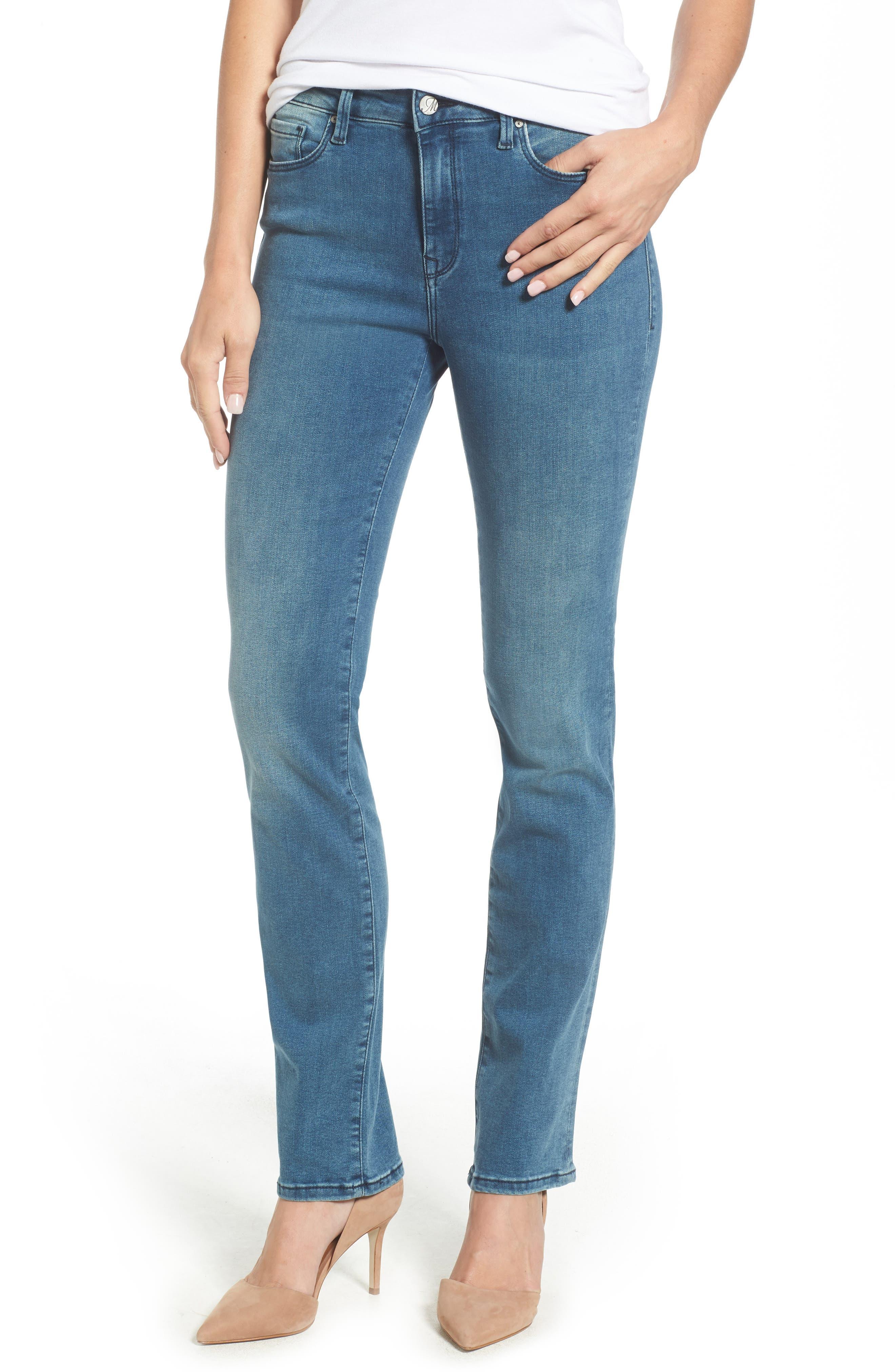 Kendra High Waist Straight Leg Jeans,                             Main thumbnail 1, color,                             420